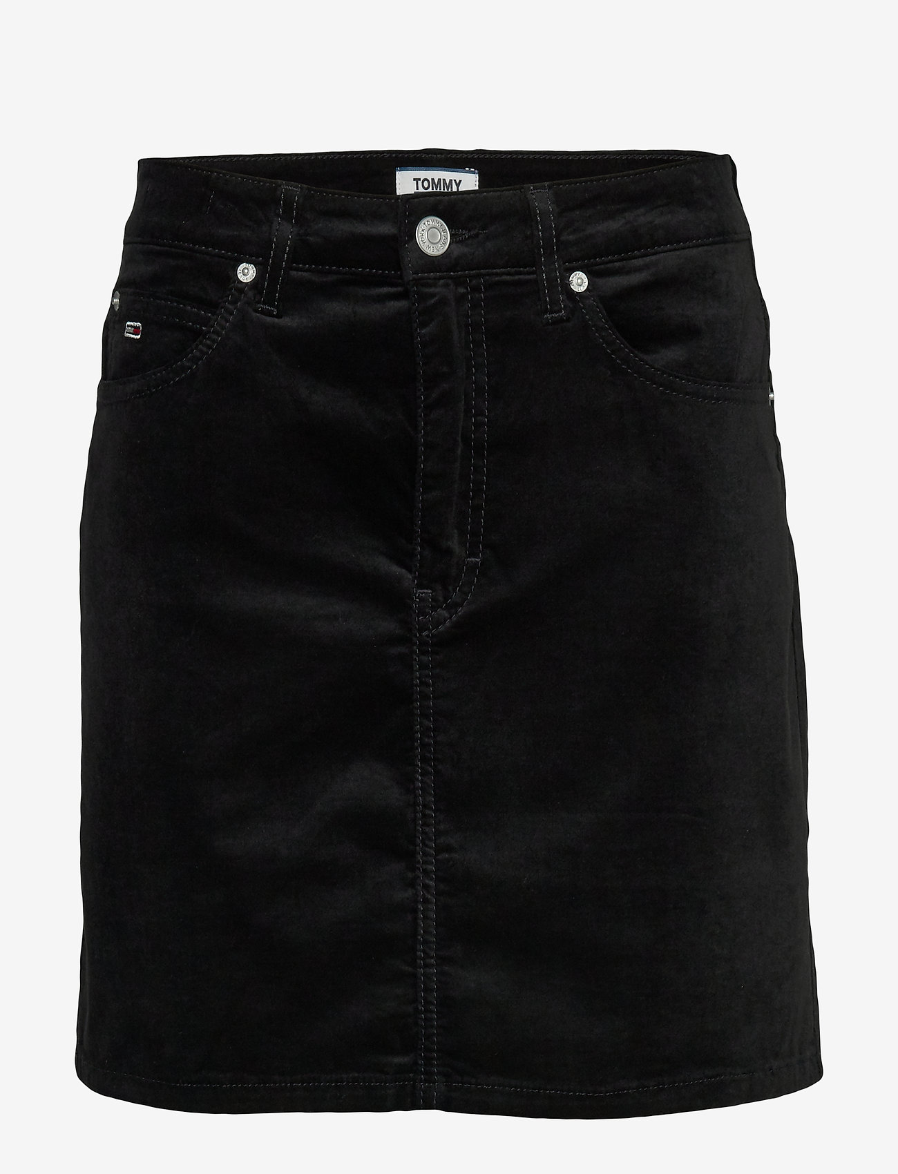 Tommy Jeans - TJW SHORT VELVET SKIRT - jupes en jeans - tommy black - 0