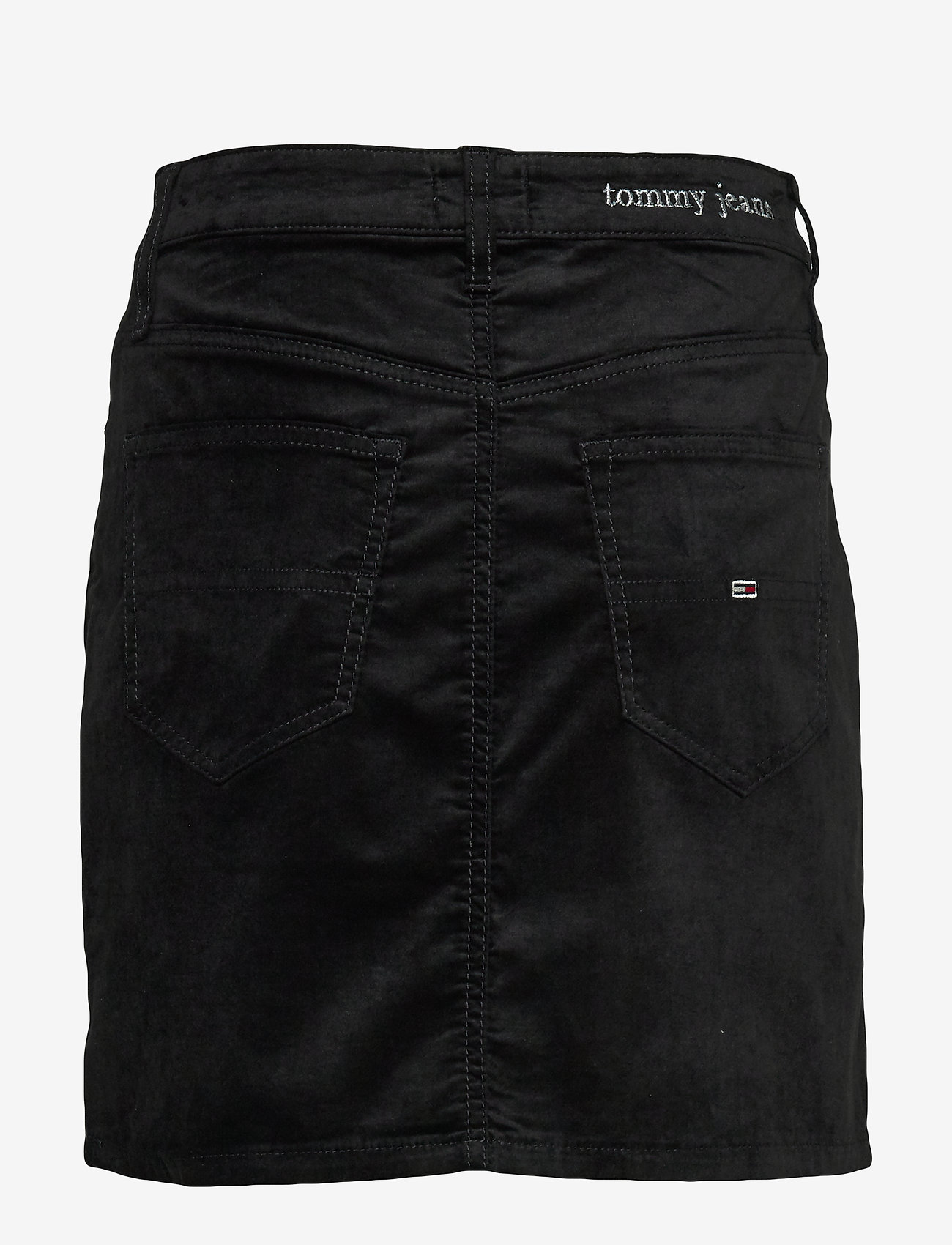 Tommy Jeans - TJW SHORT VELVET SKIRT - jupes en jeans - tommy black - 1