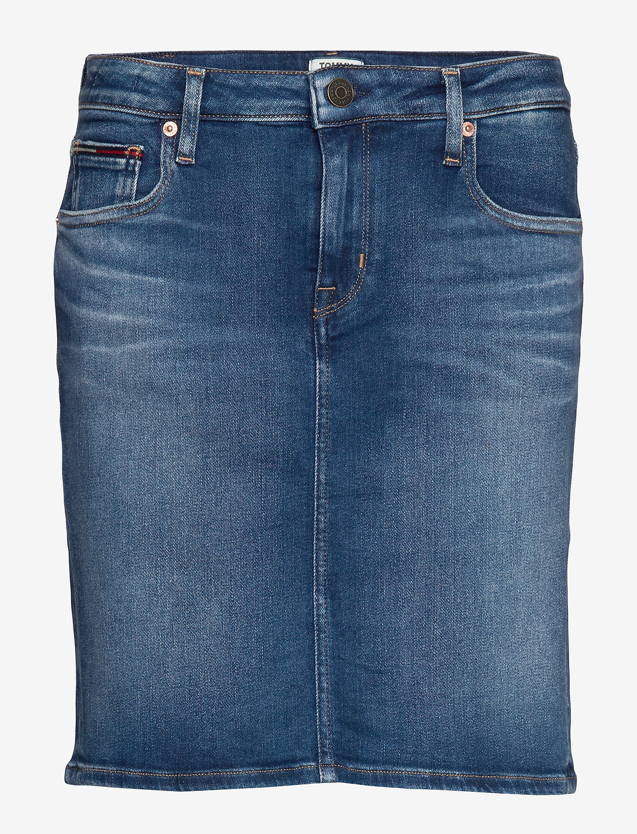 Tommy Jeans - CLASSIC DENIM SKIRT MNM - jupes en jeans - maine mid bl str - 0