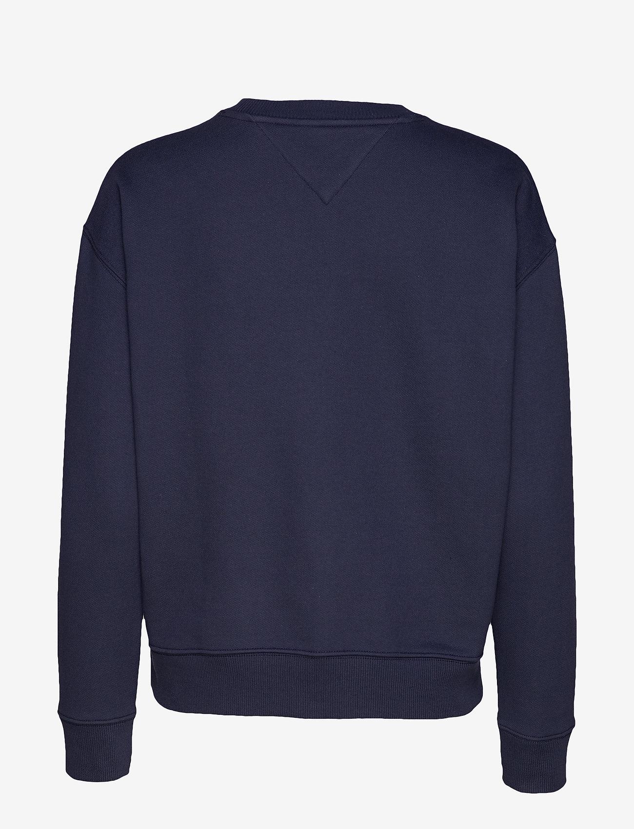 Tommy Jeans - TJW TOMMY BADGE CREW - sweatshirts - black iris