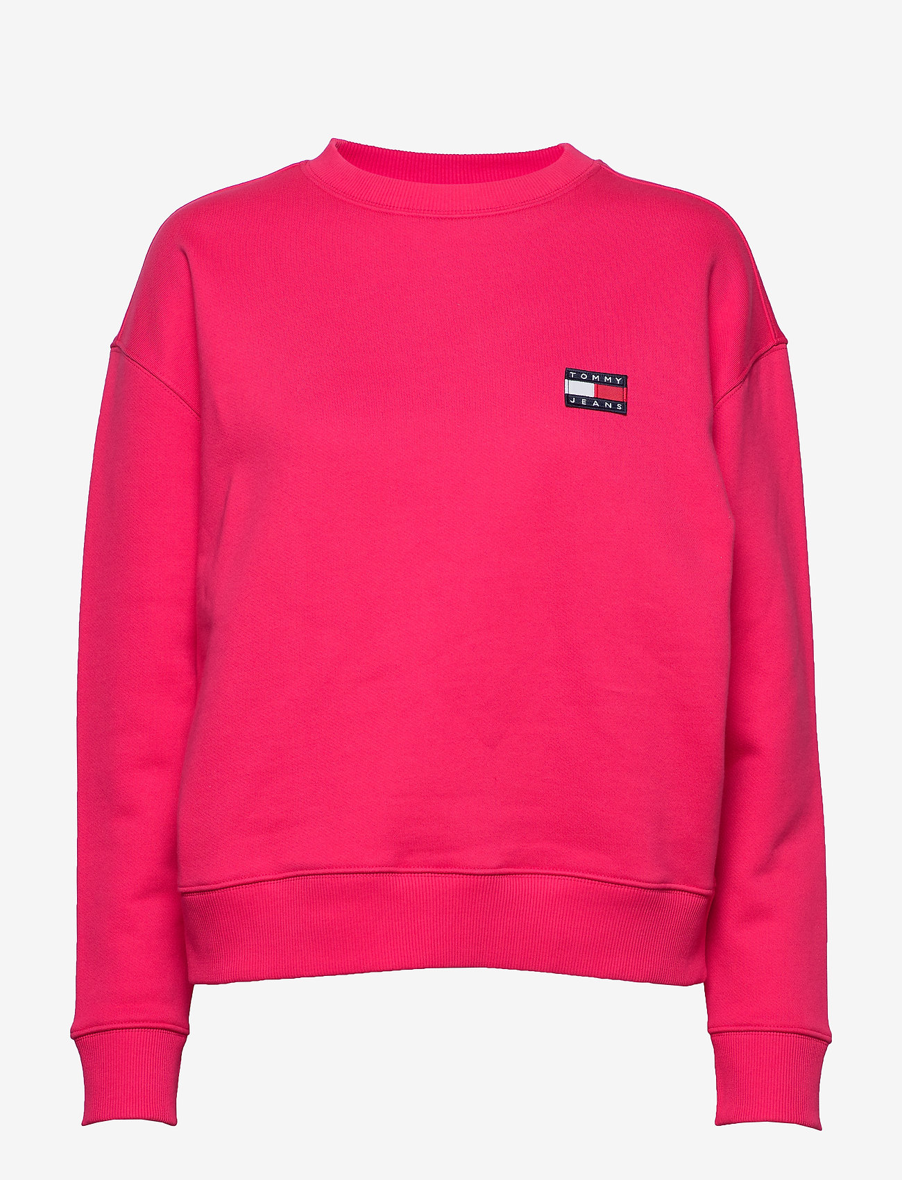 Tommy Jeans - TJW TOMMY BADGE CREW - sweatshirts - blush red - 0
