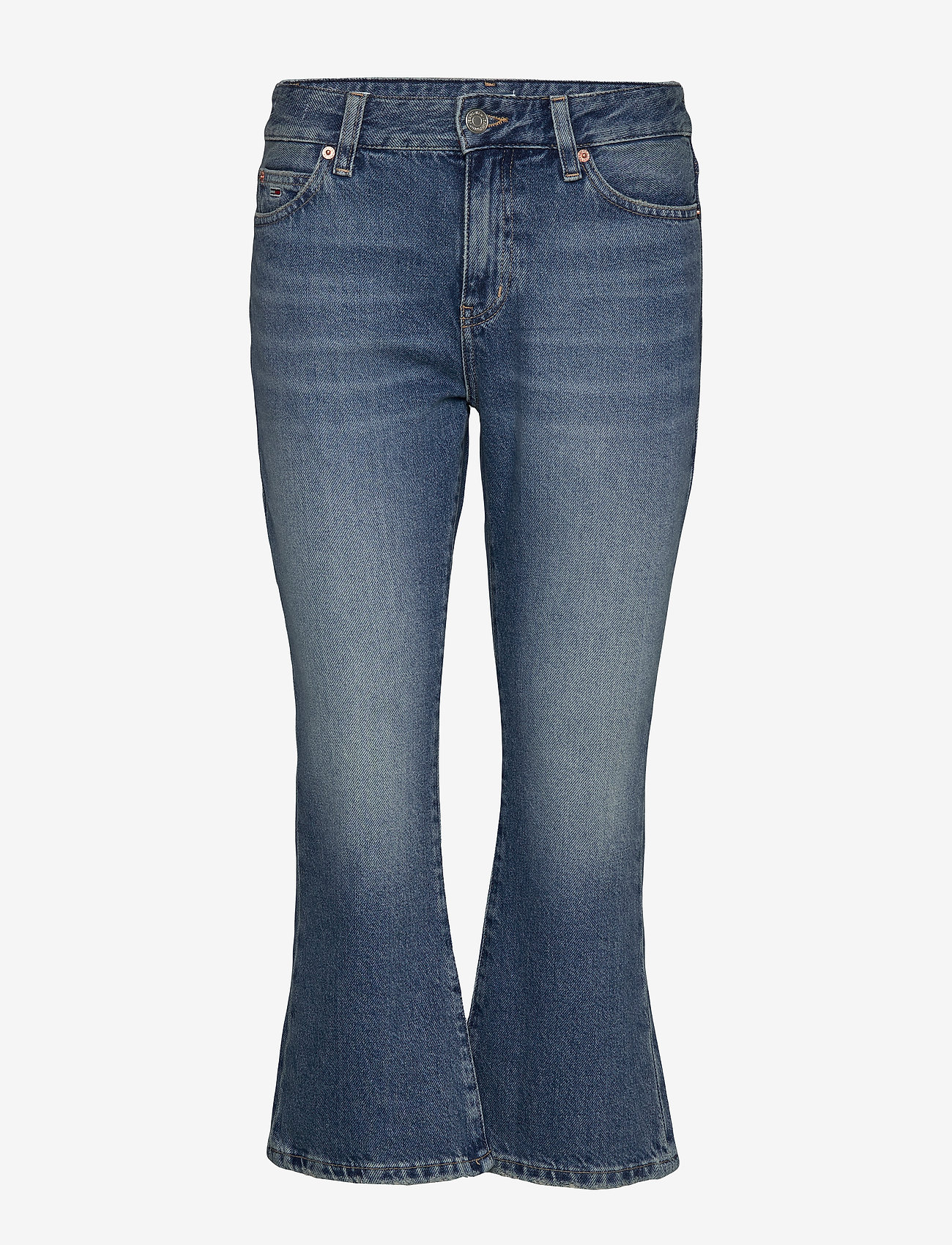 Tommy Jeans - CROP FLARE SNDM - flared jeans - sunday mid bl rig - 0