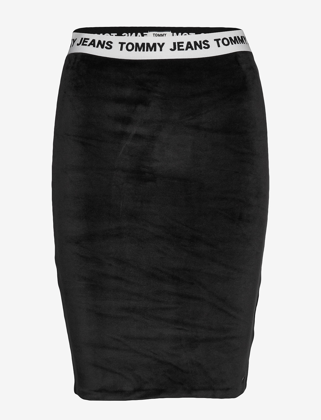 Tommy Jeans - TJW VELVET BODYCON SKIRT - midi skirts - tommy black - 0