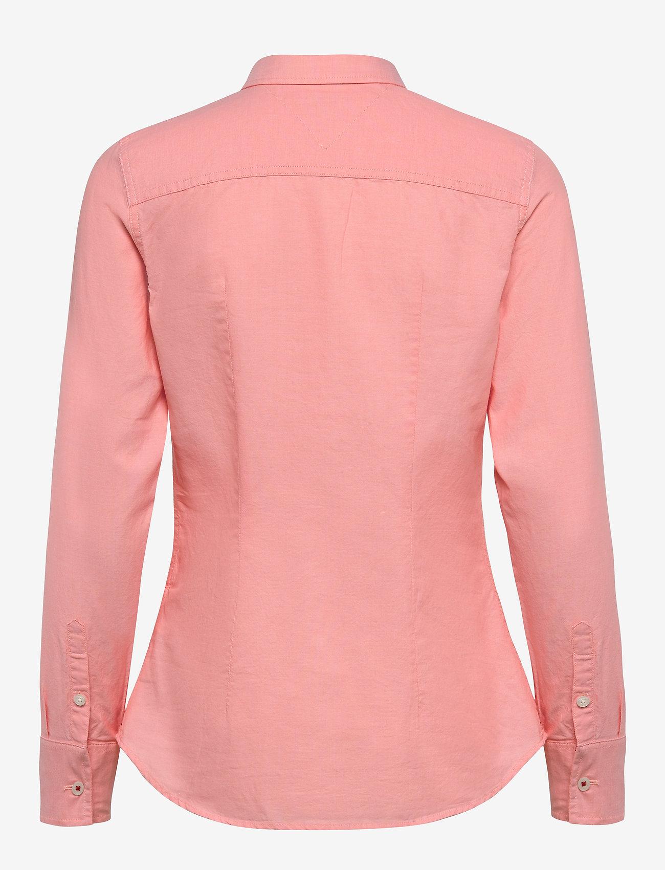 Tommy Jeans - TJW SLIM FIT OXFORD SHIRT - langærmede skjorter - pink icing - 1