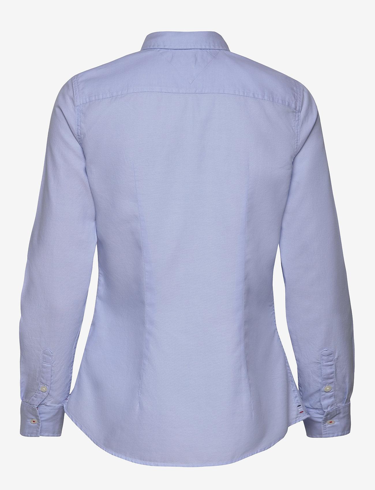 Tommy Jeans - TJW SLIM FIT OXFORD SHIRT - langærmede skjorter - serenity - 1