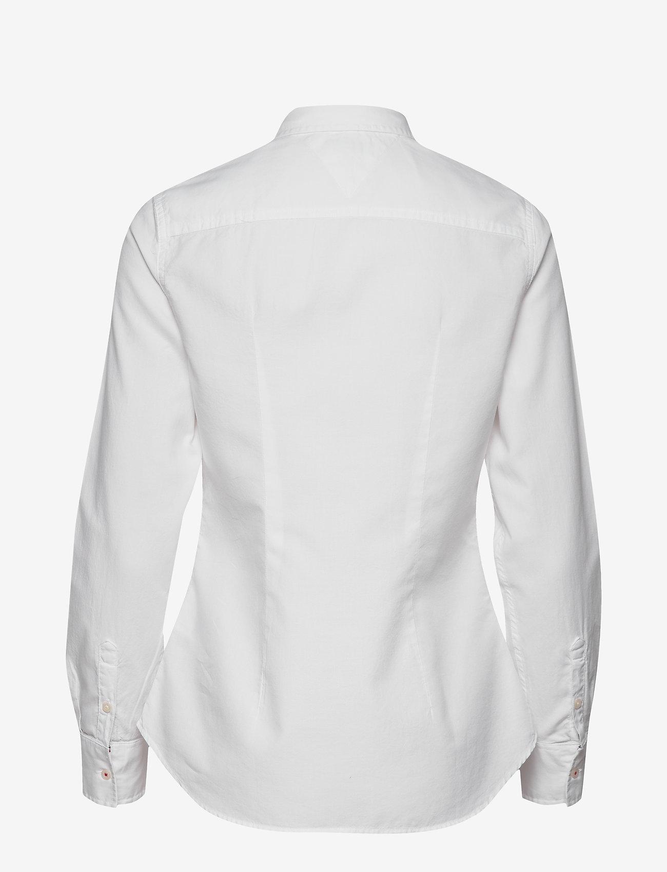 Tommy Jeans - TJW SLIM FIT OXFORD SHIRT - langærmede skjorter - white - 1