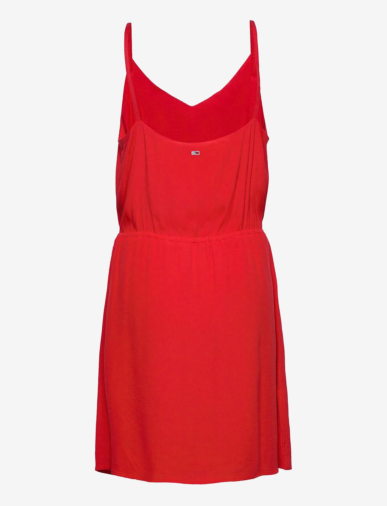 Tommy Jeans - TJW ESSENTIAL STRAP - short dresses - deep crimson - 1
