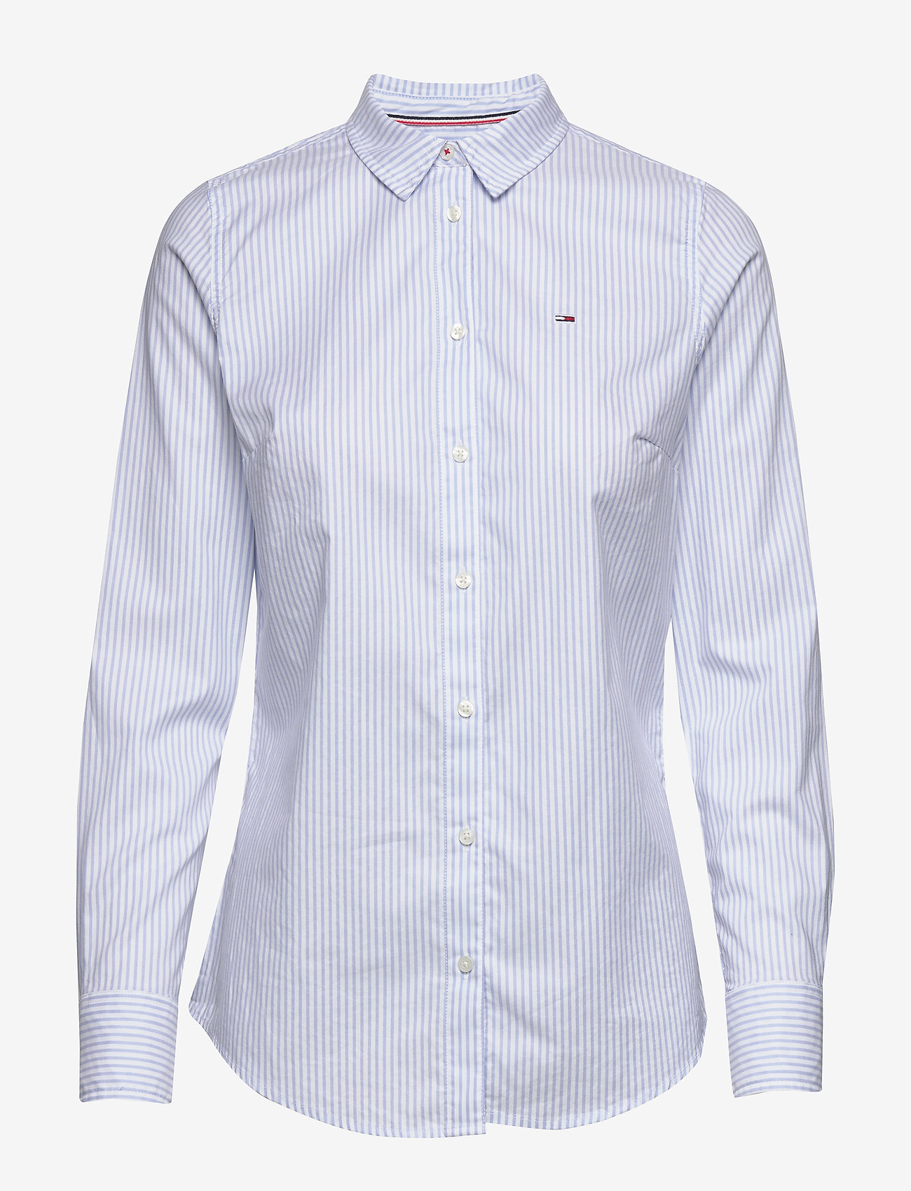 Tommy Jeans - TJW SLIM FIT STRETCH - langærmede skjorter - white / moderate blue - 0