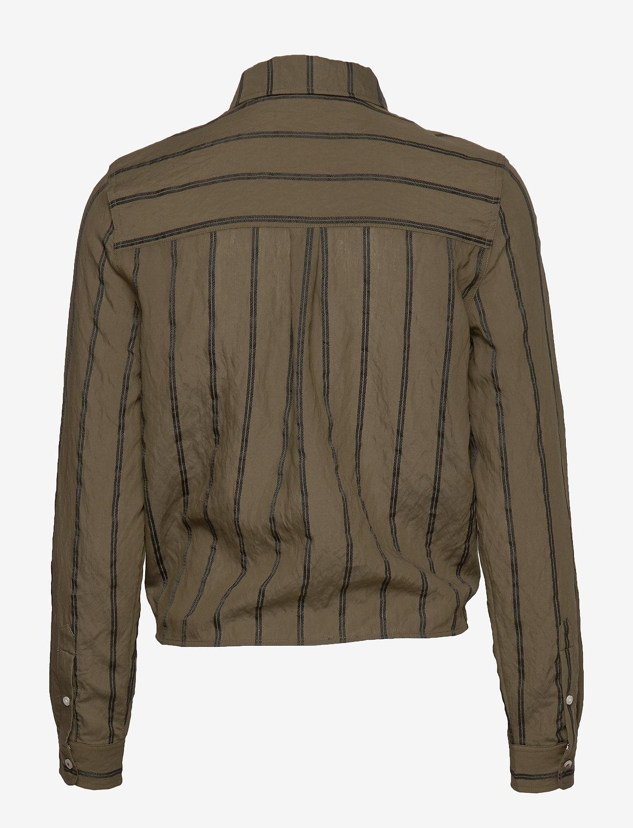 Tommy Jeans - TJW FRONT KNOT SHIRT - langærmede skjorter - olive tree / black - 1