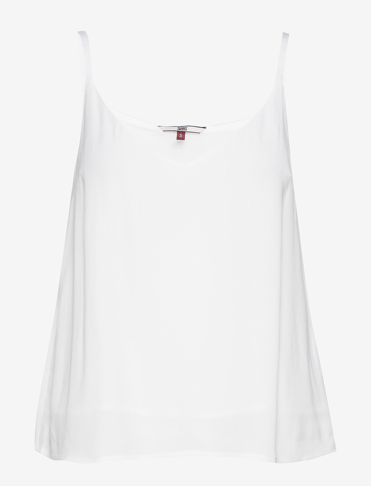 Tommy Jeans - TJW BRANDED STRAPS C - sleeveless tops - white - 0