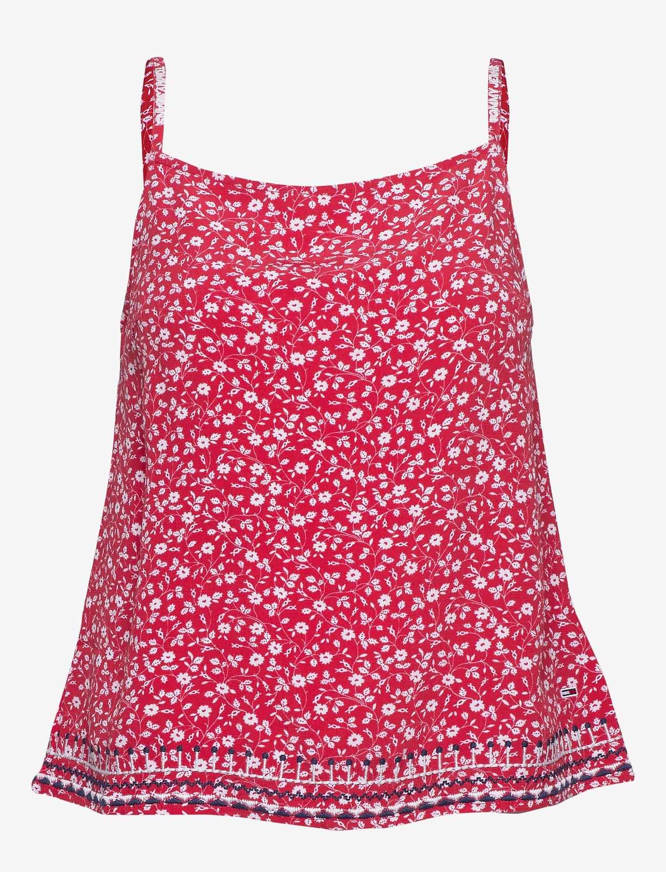 Tommy Jeans - TJW EMBROIDERY STRAP - tops zonder mouwen - floral print / deep crimson - 0