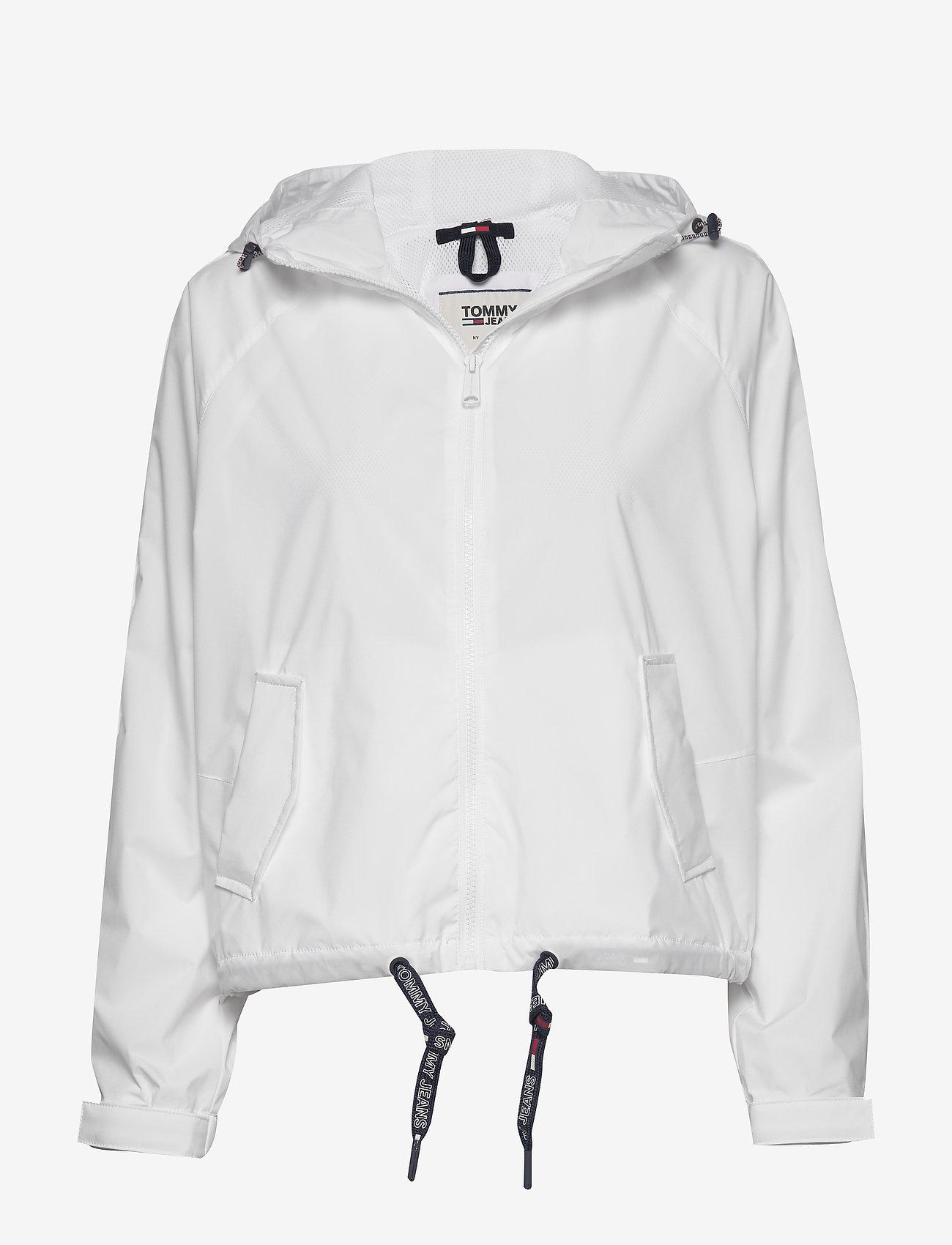 Tommy Jeans - TJW BRANDED SLEEVES WINDBREAKER - vestes legères - white - 0