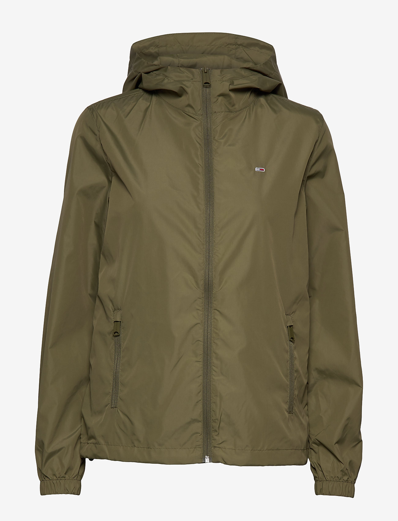 Tommy Jeans - TJW CHEST LOGO WINDBREAKER - vestes legères - olive tree - 1