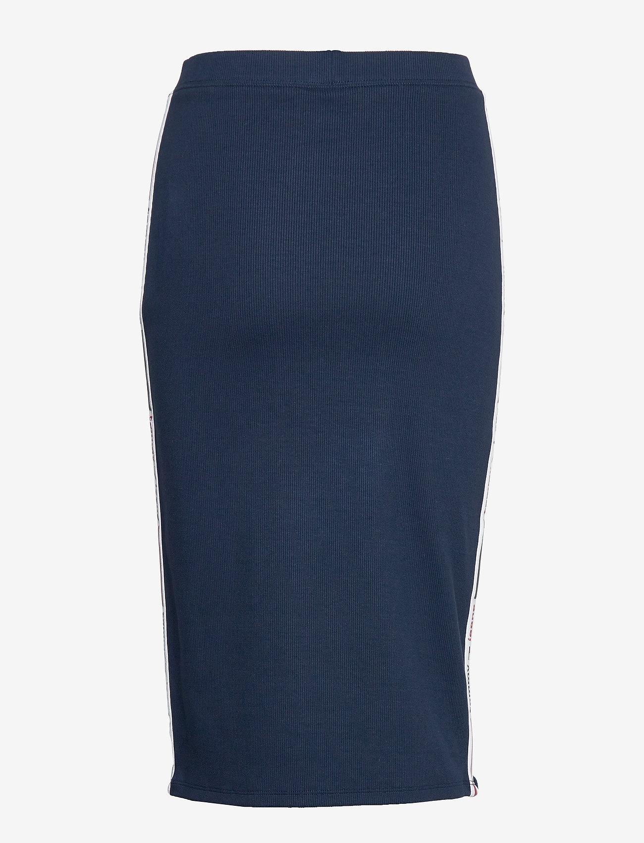 Tommy Jeans - TJW TAPE DETAIL RIB - midi skirts - twilight navy - 1
