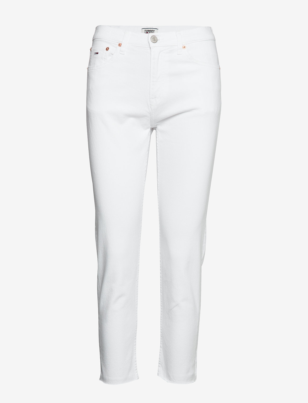 Tommy Jeans - IZZY HR SLIM ANKLE MRWH - slim jeans - mars white com - 0