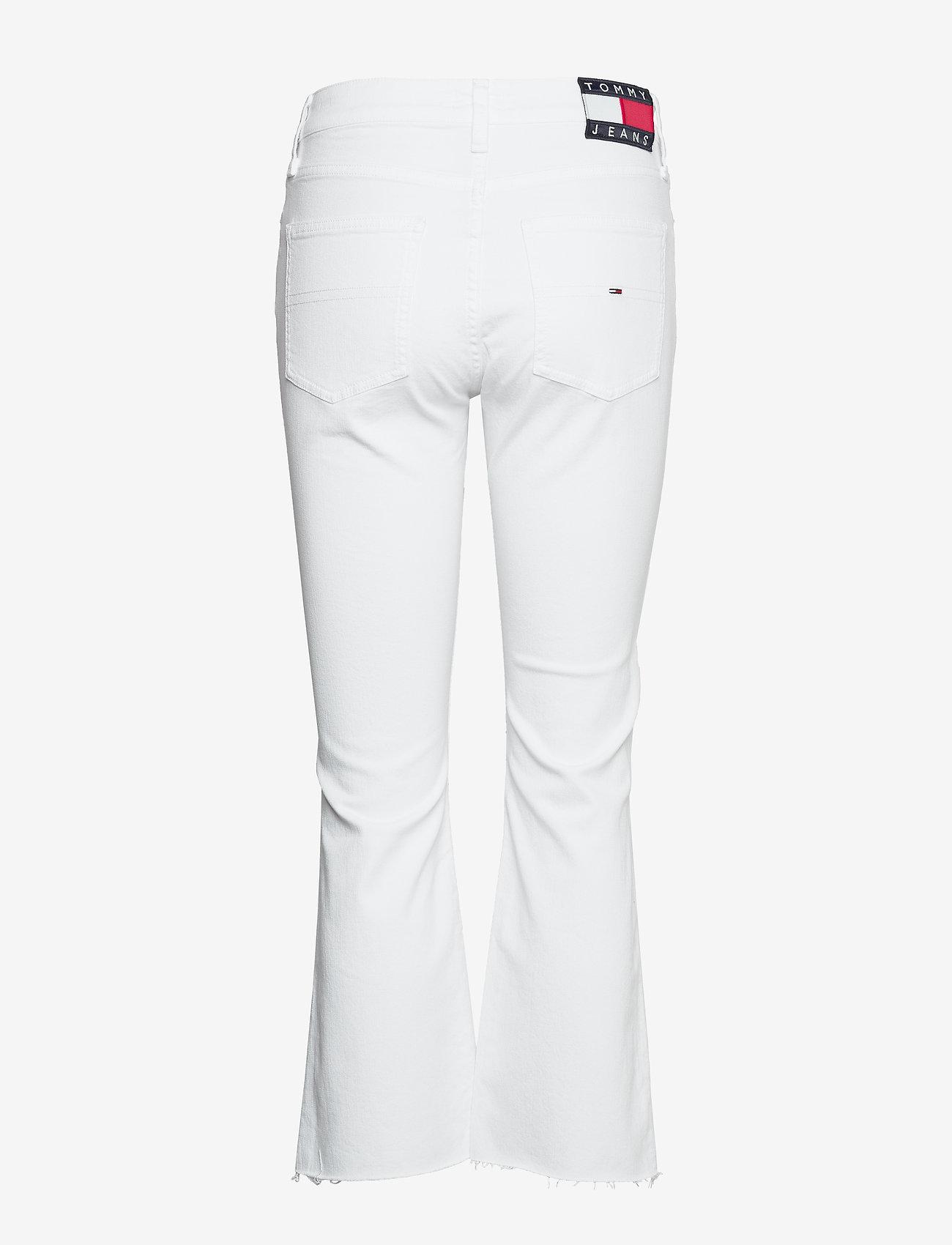 Tommy Jeans - KATIE CROP FLARE MRW - schlaghosen - mars white com - 1