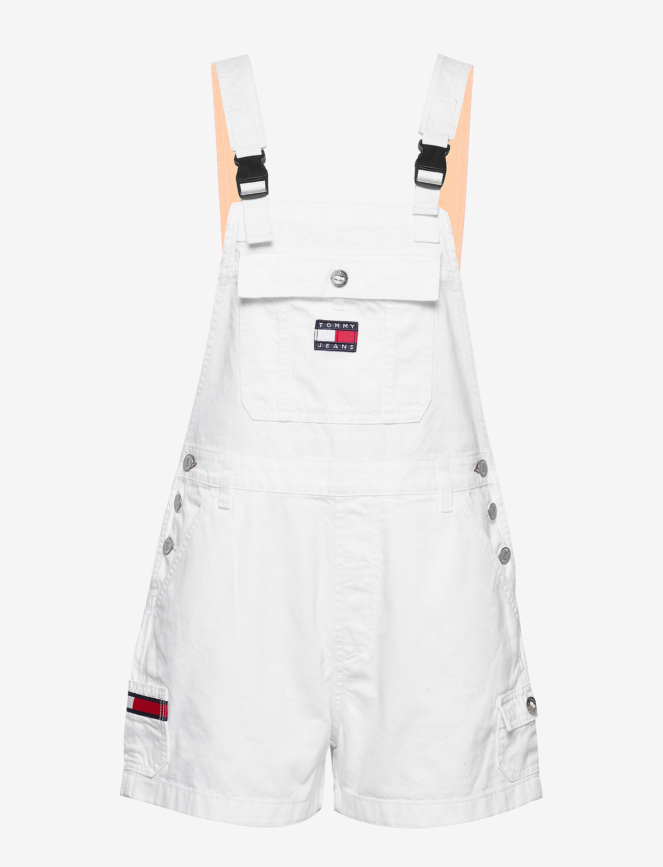 Tommy Jeans - DUNGAREE SHORT CLWTH - buksedragter - classic white twill - 0