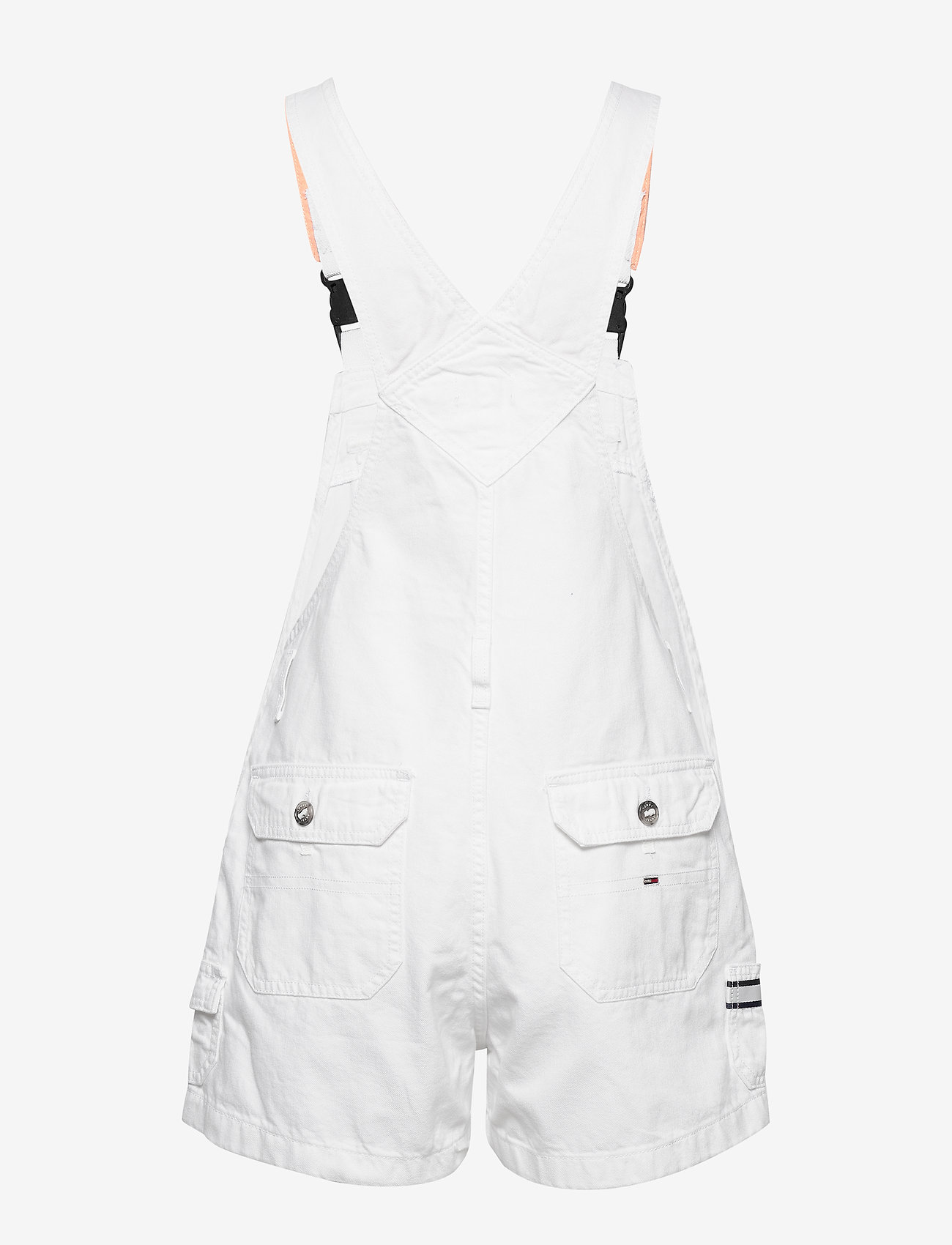 Tommy Jeans - DUNGAREE SHORT CLWTH - buksedragter - classic white twill - 1