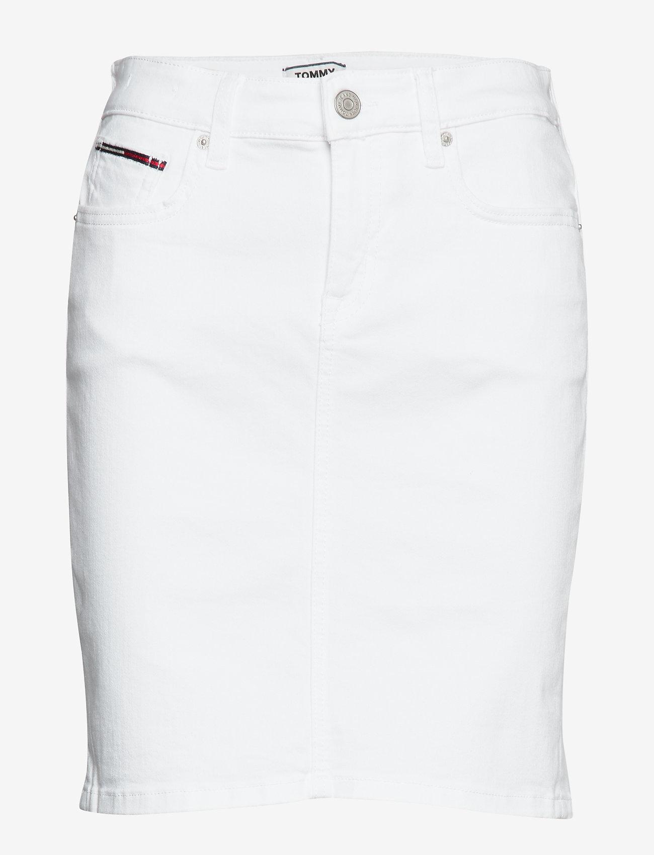 Tommy Jeans - CLASSIC DENIM SKIRT - jupes en jeans - candle white str - 0