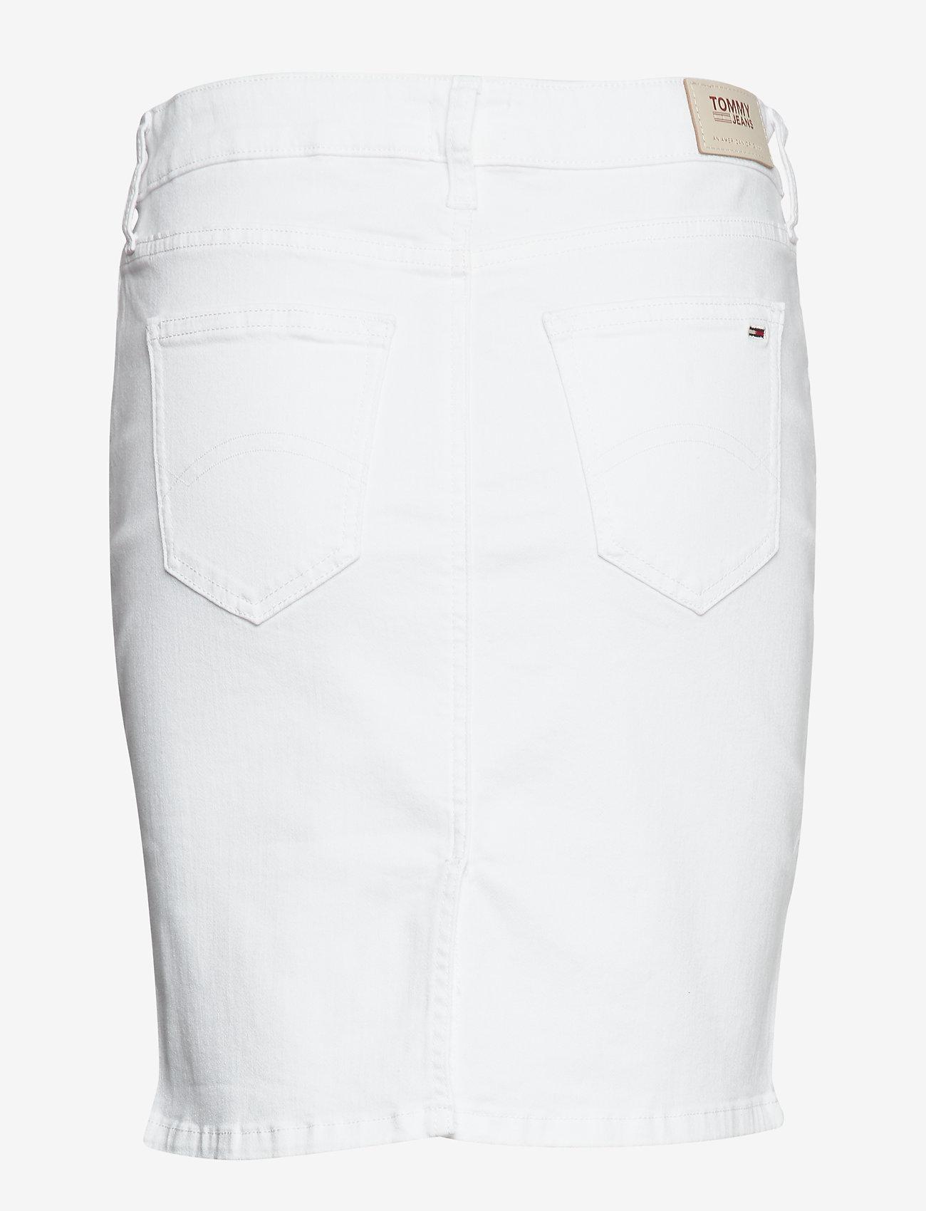 Tommy Jeans - CLASSIC DENIM SKIRT - jupes en jeans - candle white str - 1