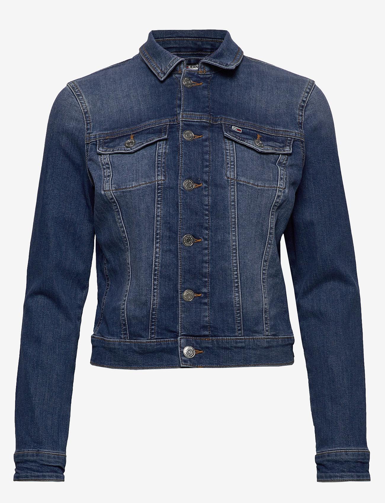 Tommy Jeans - SLIM TRUCKER  JACKET - denim jackets - audrey mid bl str - 0