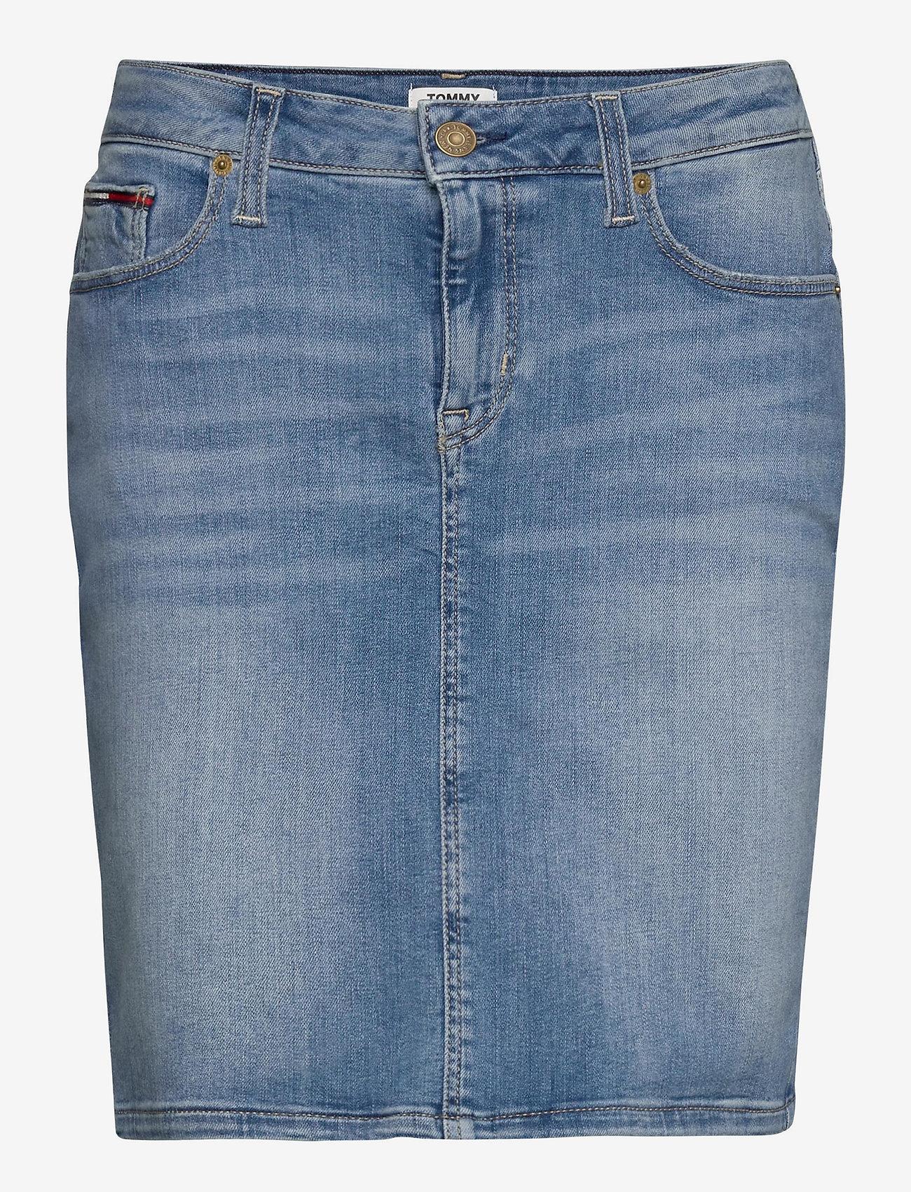 Tommy Jeans - CLASSIC DENIM SKIRT - denimnederdele - victoria lt bl str - 0