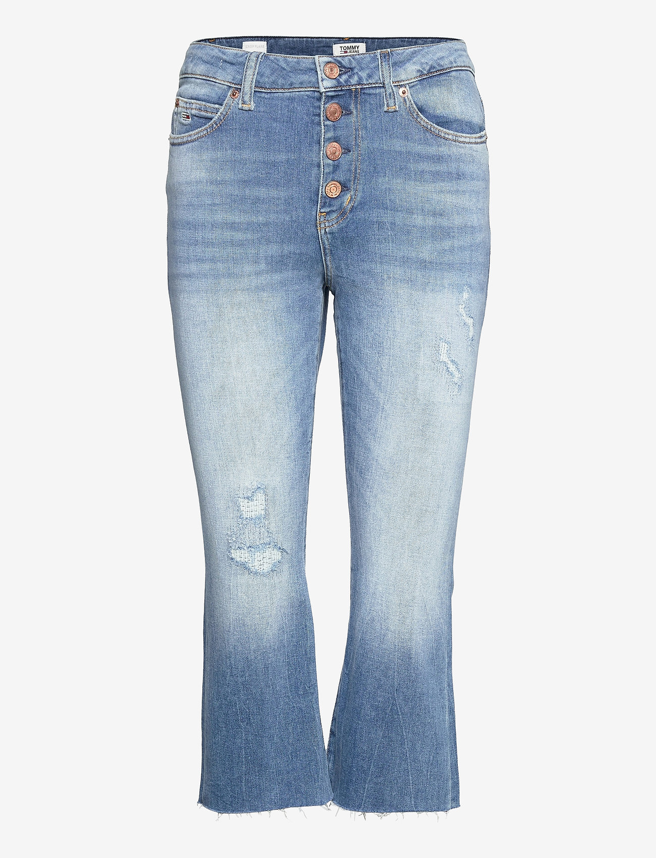 Tommy Jeans - KATIE CROP FLARE BF SMMB - schlaghosen - sima mid bl com - 0