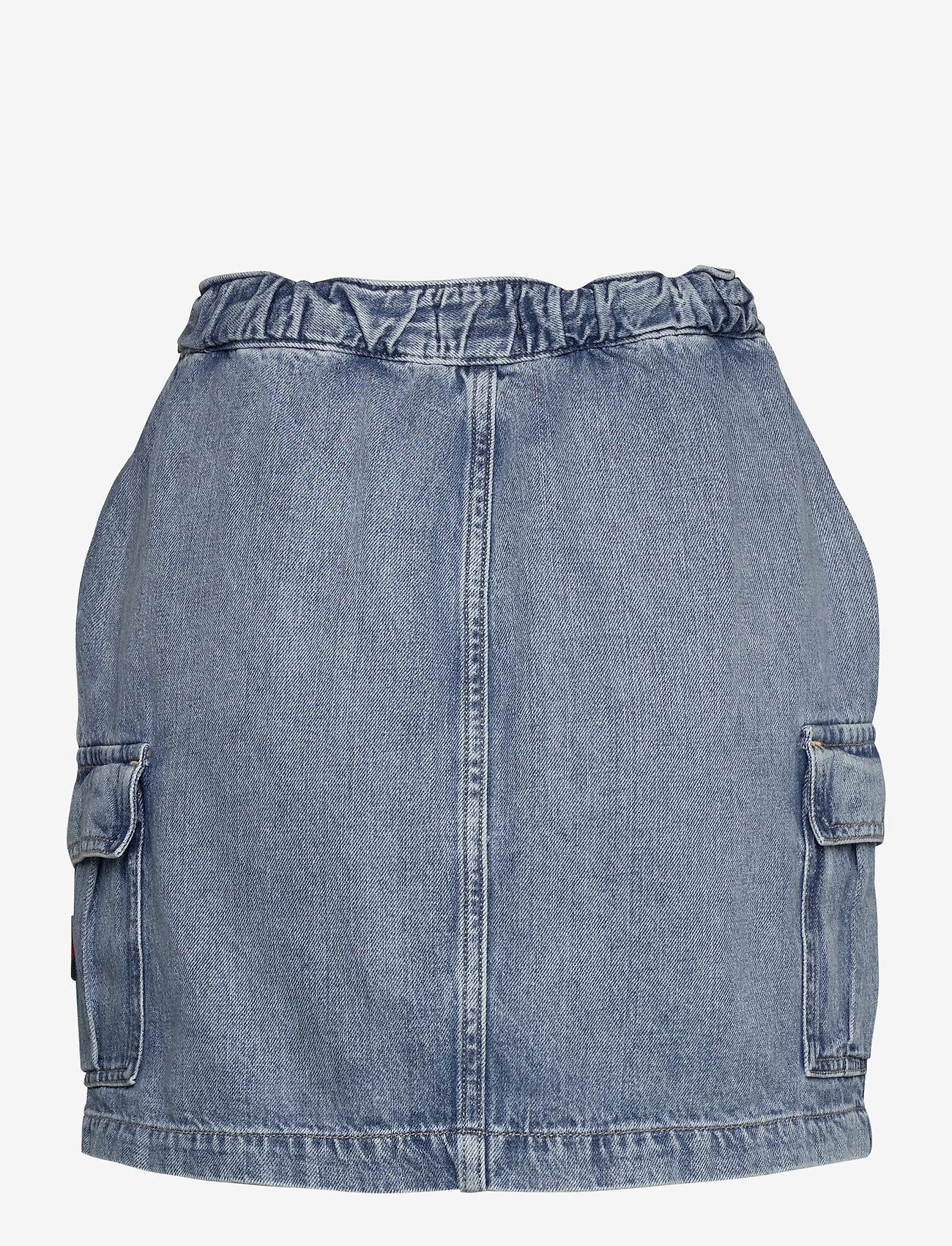 Tommy Jeans - SHORT CARGO SKIRT CR - jeanskjolar - carol lt bl rig - 1