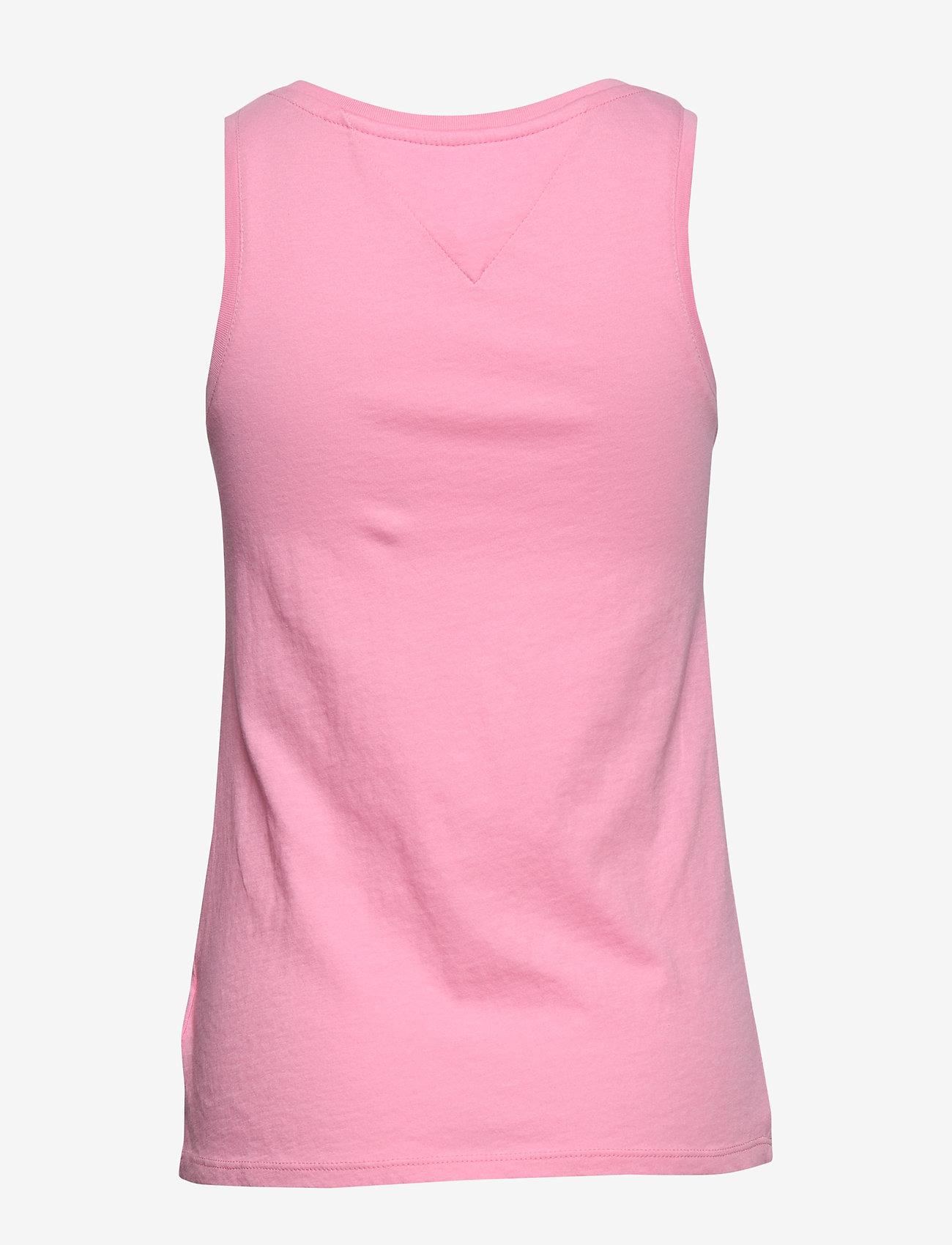 Tommy Jeans - TJW LOGO TANK - tops zonder mouwen - pink daisy - 1
