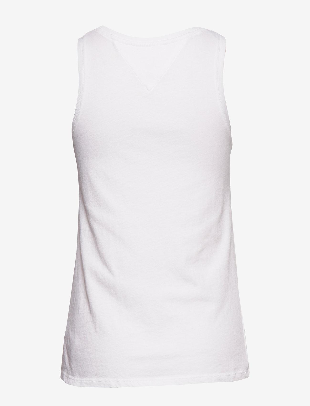 Tommy Jeans - TJW LOGO TANK - tops zonder mouwen - white - 1