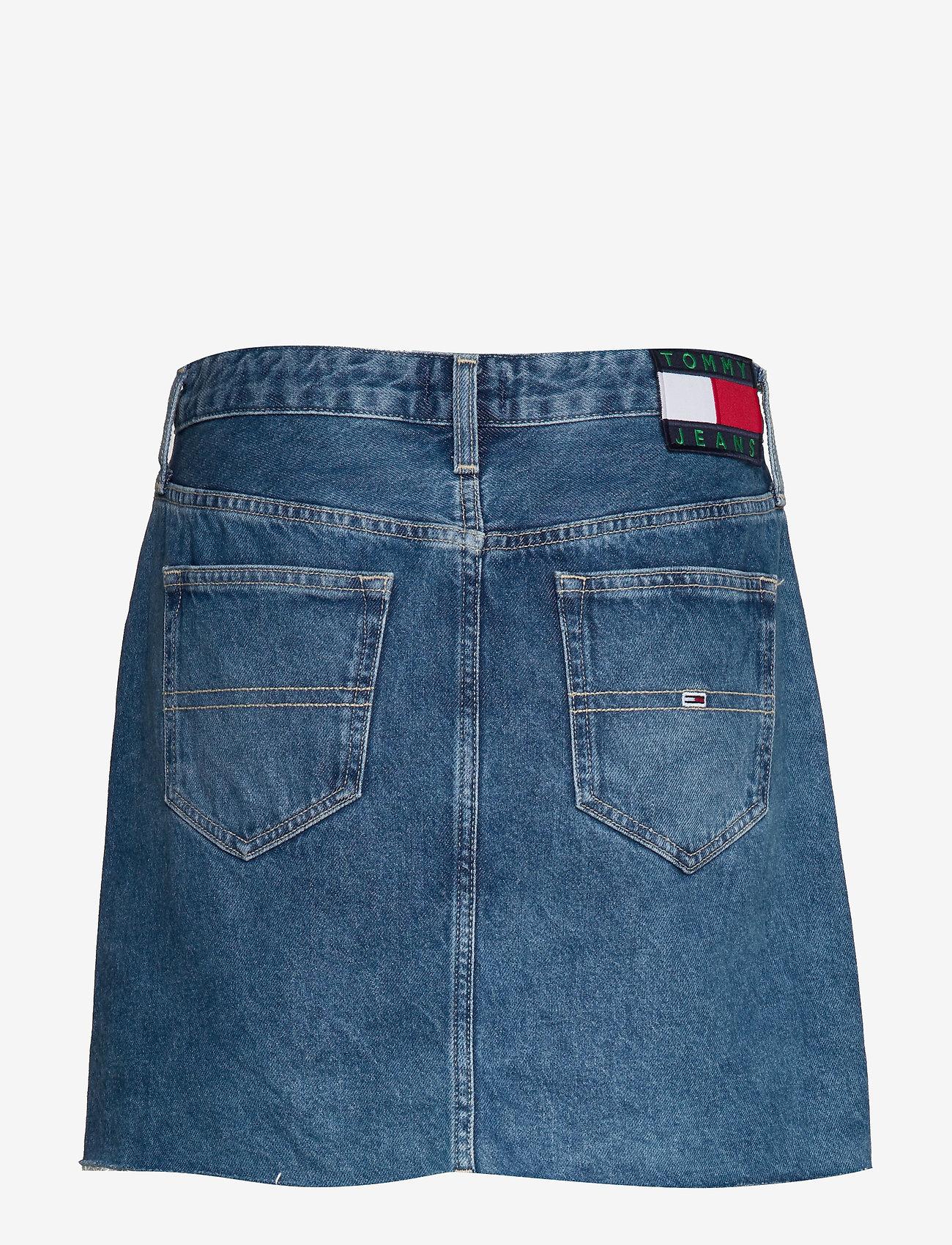 Tommy Jeans - SHORT DENIM SKIRT SV - jupes courtes - save 20 mid bl rig - 1