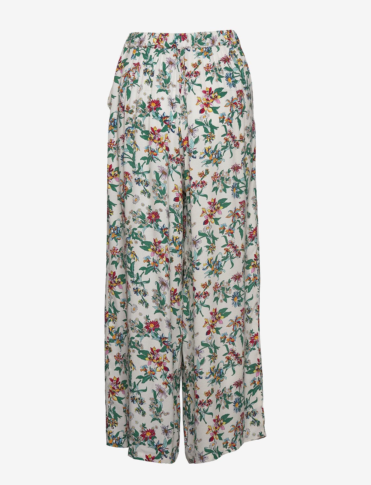 Tommy Jeans - TJW PRINTED FLUID PANT - wide leg trousers - hawaii print - 1