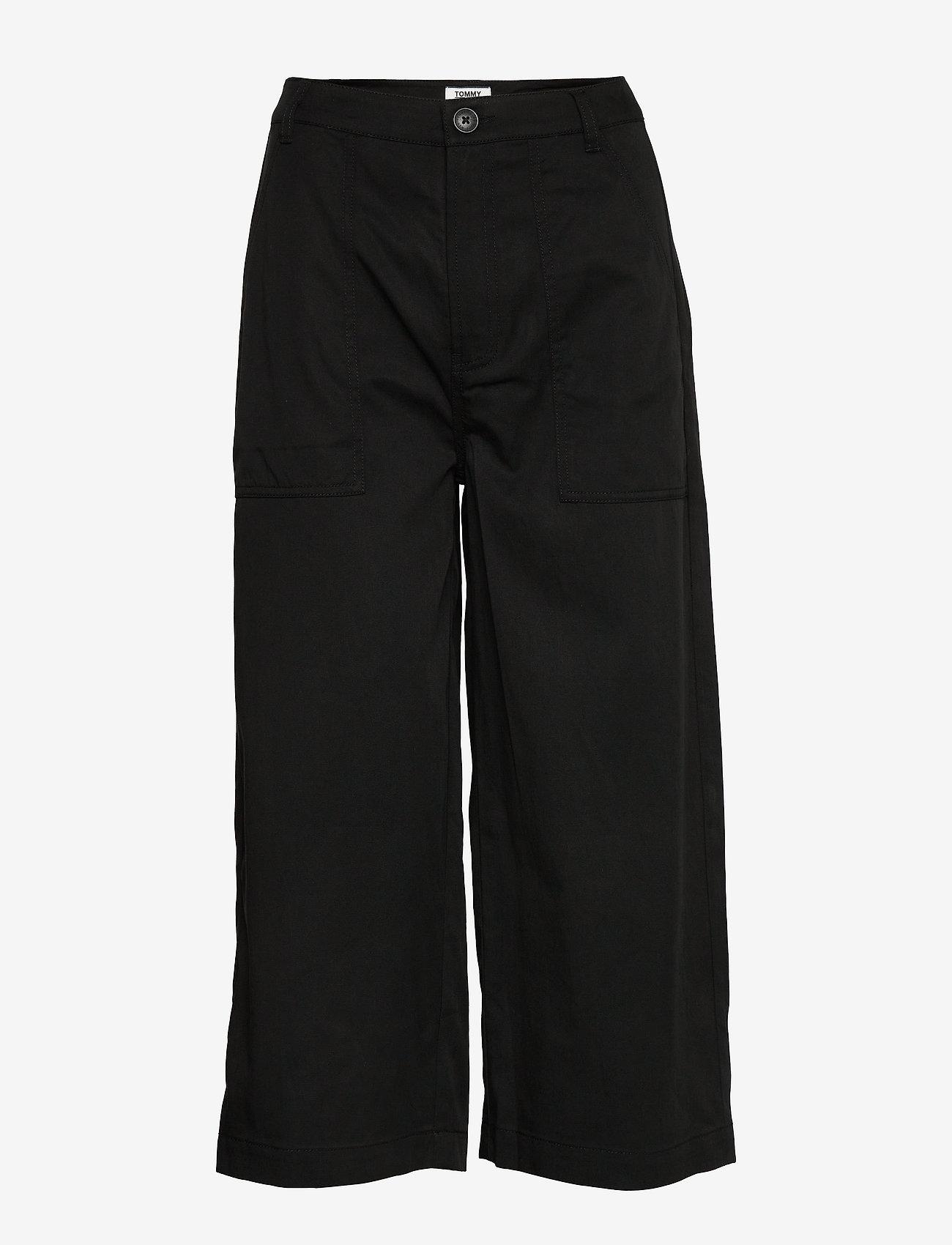Tommy Jeans - TJW HIGH RISE WIDE CROP - szerokie dżinsy - black - 0