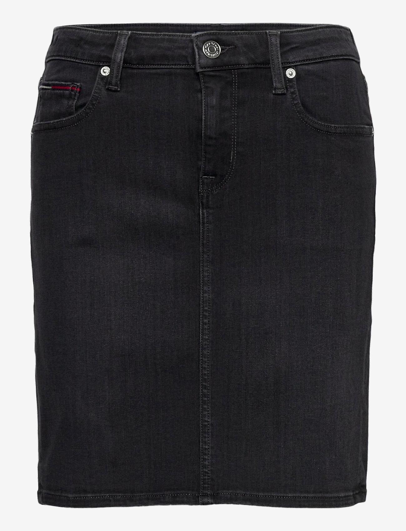 Tommy Jeans - CLASSIC DENIM SKIRT BRBK - jeanskjolar - bird black stretch - 0