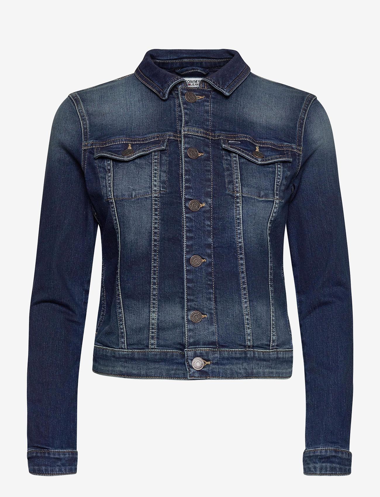 Tommy Jeans - VIVIANNE SLIM DENM TRUCKER BXDBS - spijkerjassen - box dark blue stretch - 0