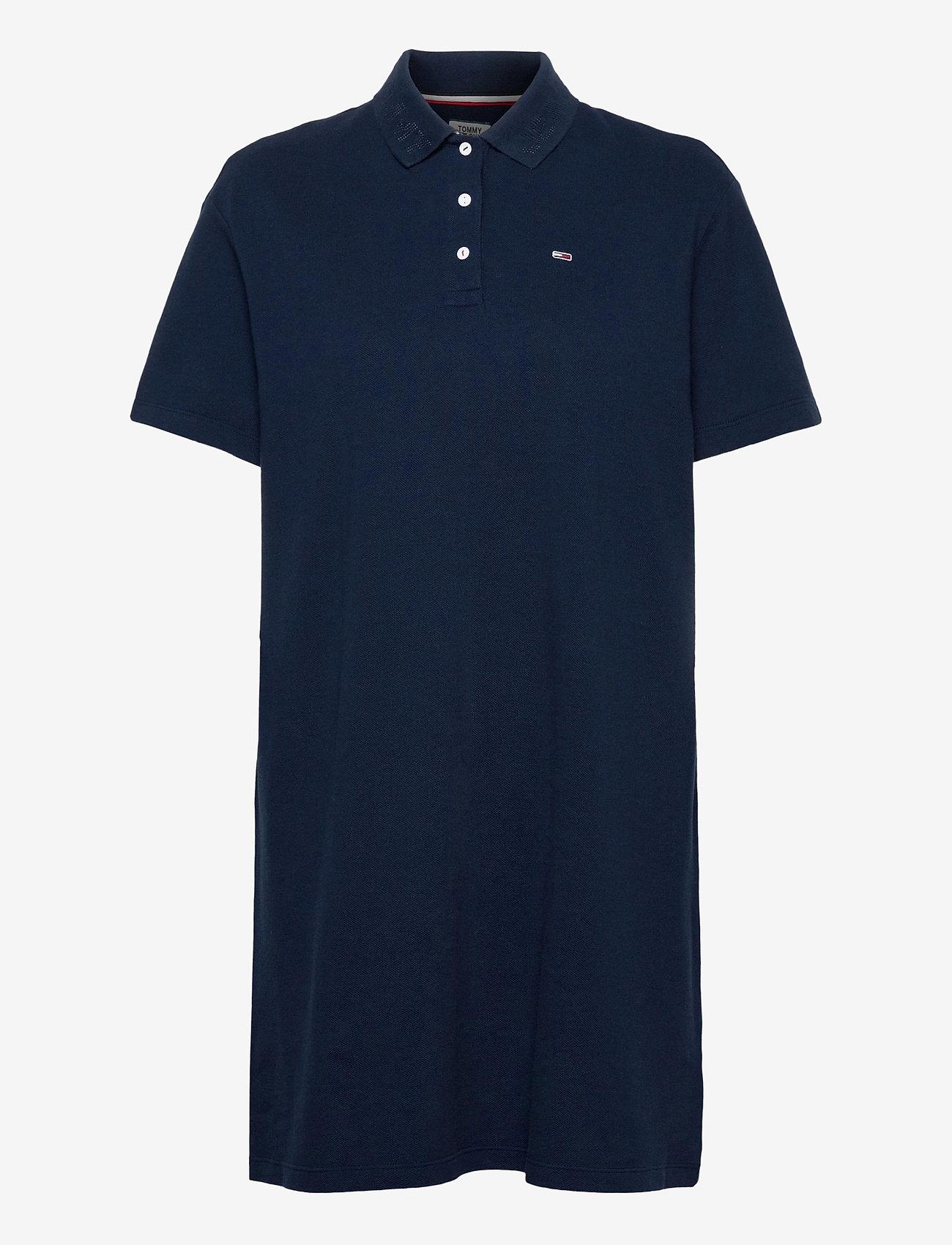 Tommy Jeans - TJW BRANDED COLLAR POLO DRESS - t-shirtklänningar - twilight navy - 0