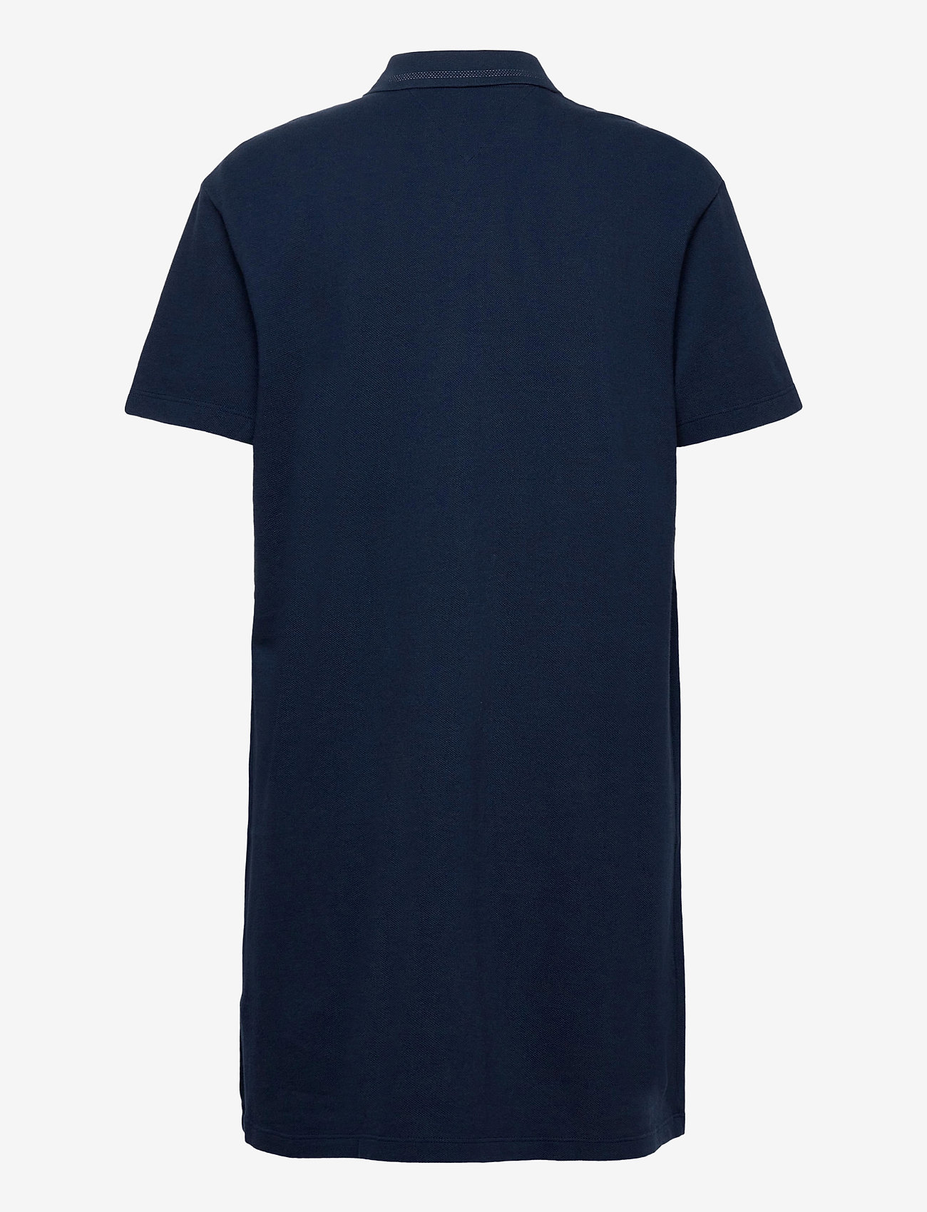 Tommy Jeans - TJW BRANDED COLLAR POLO DRESS - t-shirtklänningar - twilight navy - 1