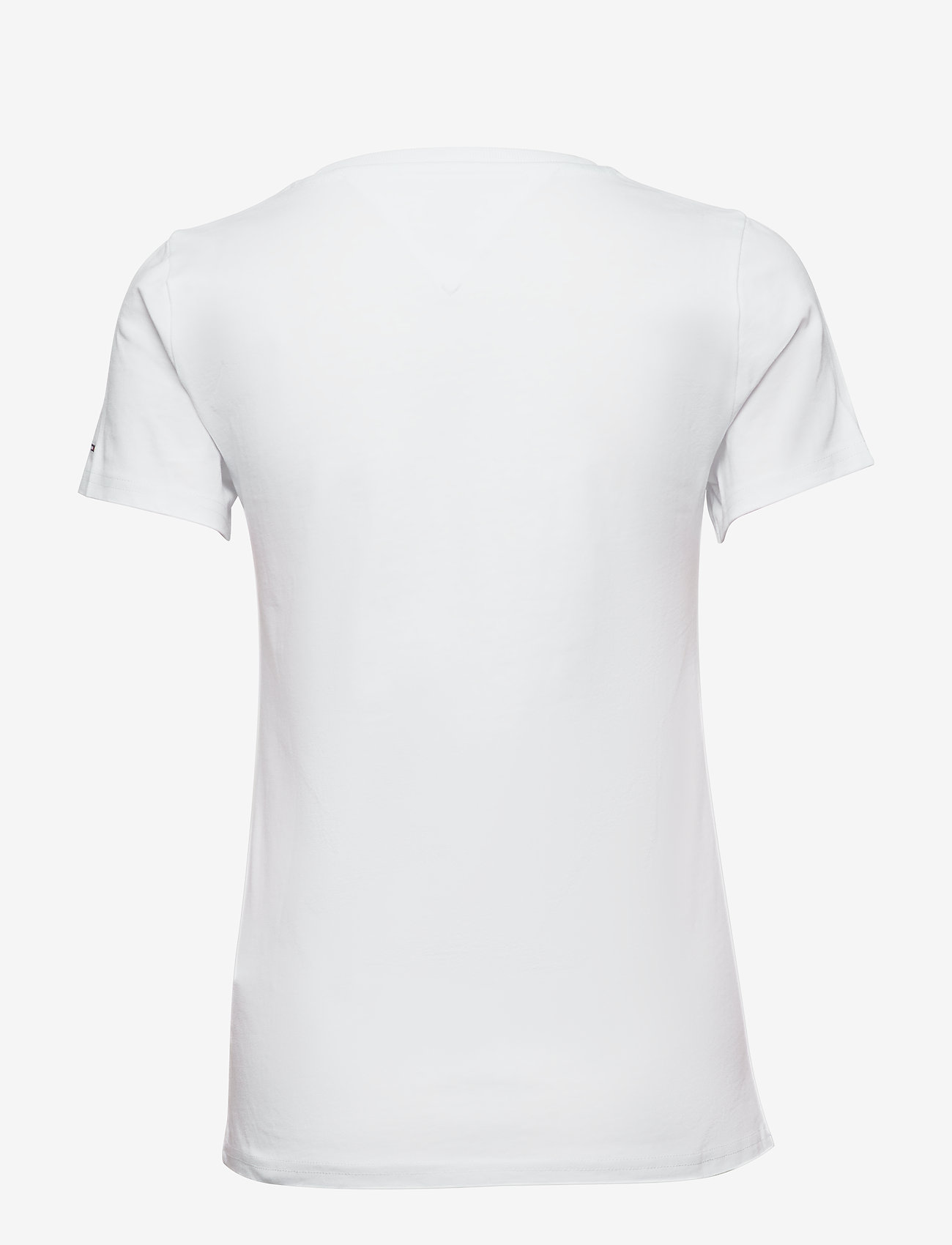Tommy Jeans - TJW METALLIC OUTLINE FLAG TEE - t-shirts - white - 1