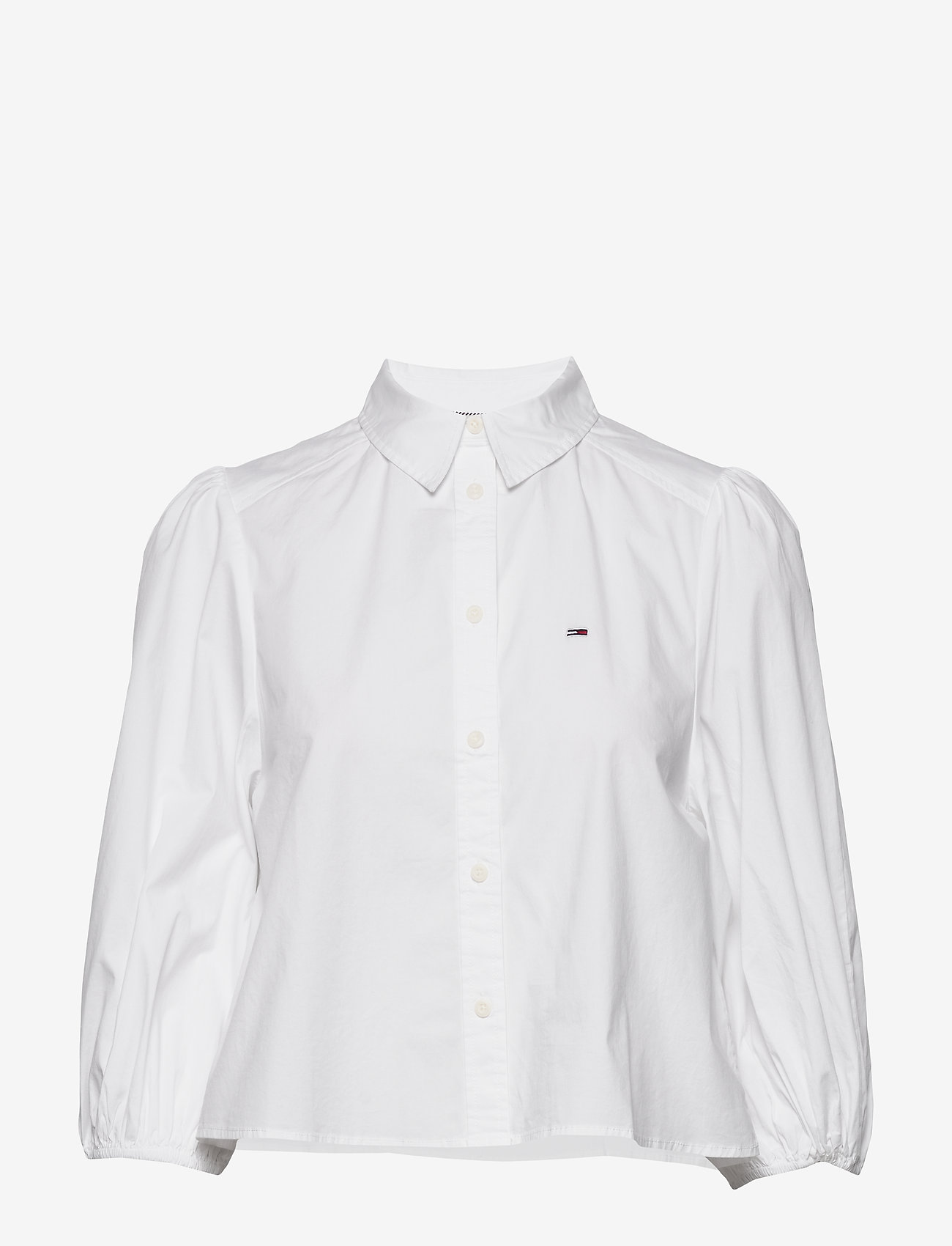 Tommy Jeans - TJW PUFFY SLEEVE SHIRT - chemises à manches longues - white - 0