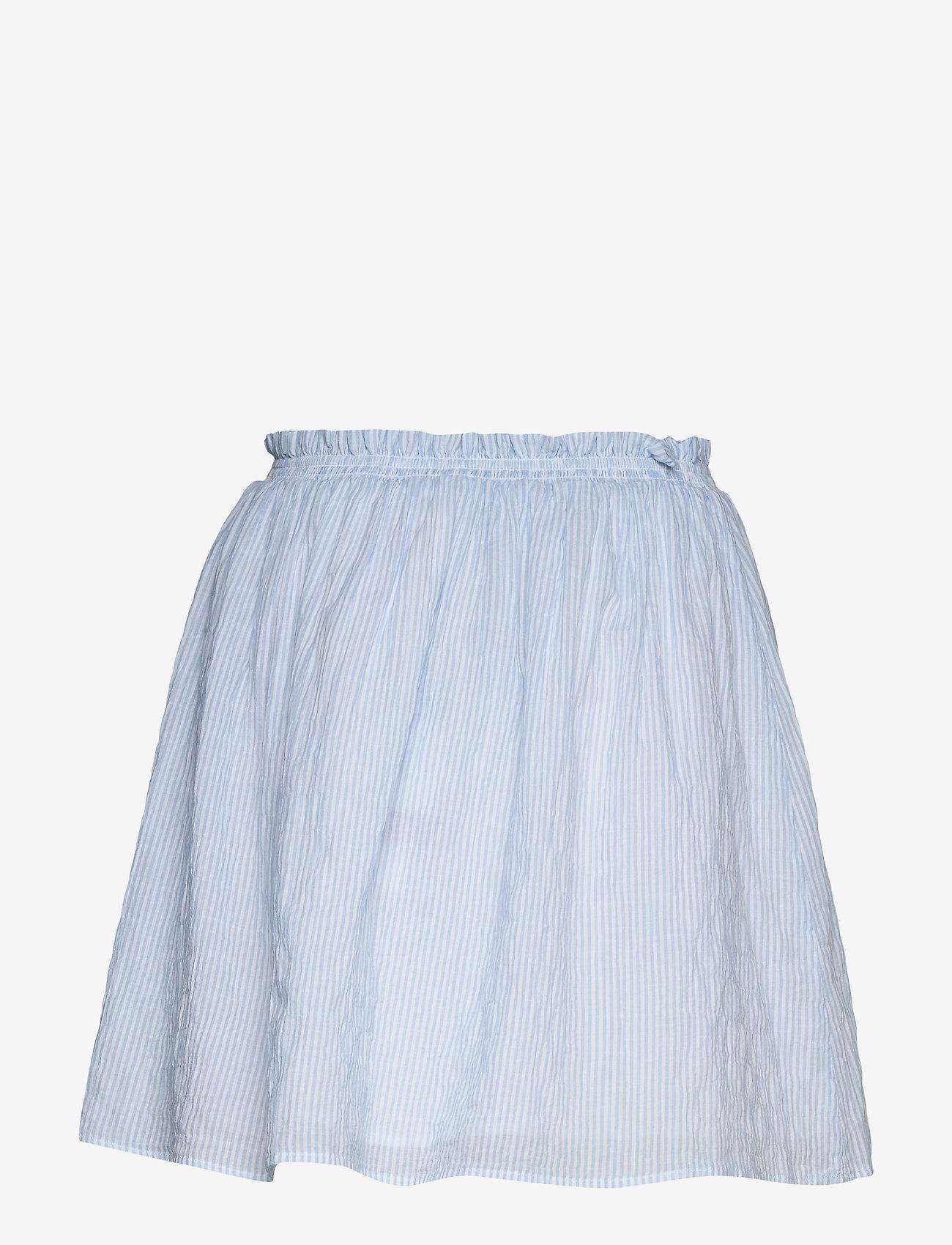 Tommy Jeans - TJW SUMMER SEERSUCKER SKIRT - jupes courtes - white / moderate blue - 1