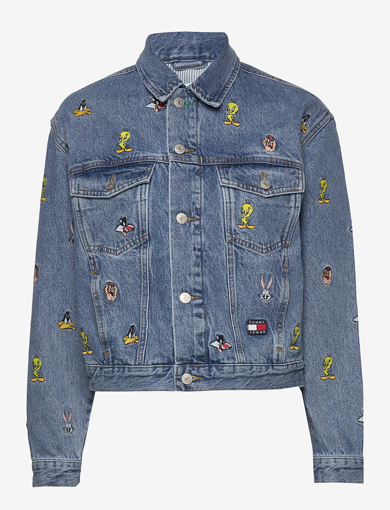 Tommy Jeans - TJW LOONEY TUNES DEN - denim jackets - light blue wash