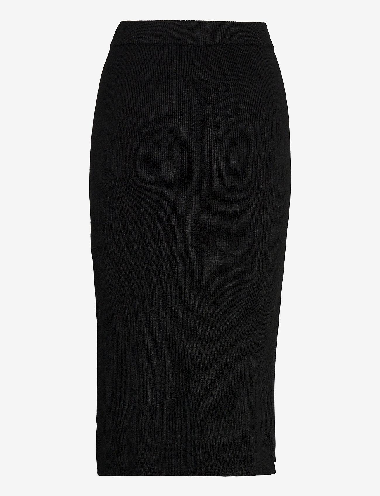 Tommy Jeans - TJW SWEATER SKIRT - midi kjolar - black - 1