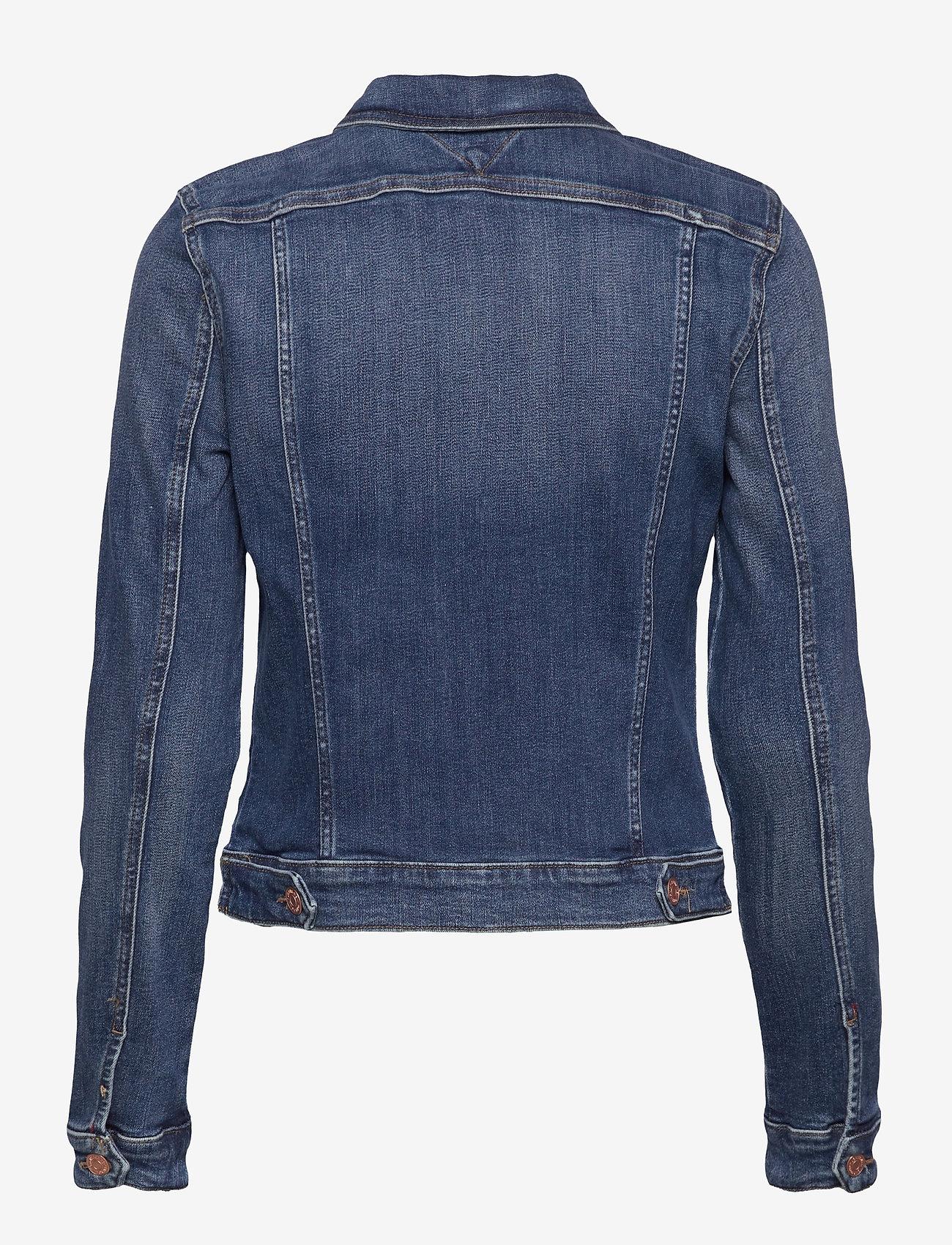 Tommy Jeans - VIVIANNE SLIM DENIM TRCKR HLDBST - denim jackets - harlow dark blue str - 1