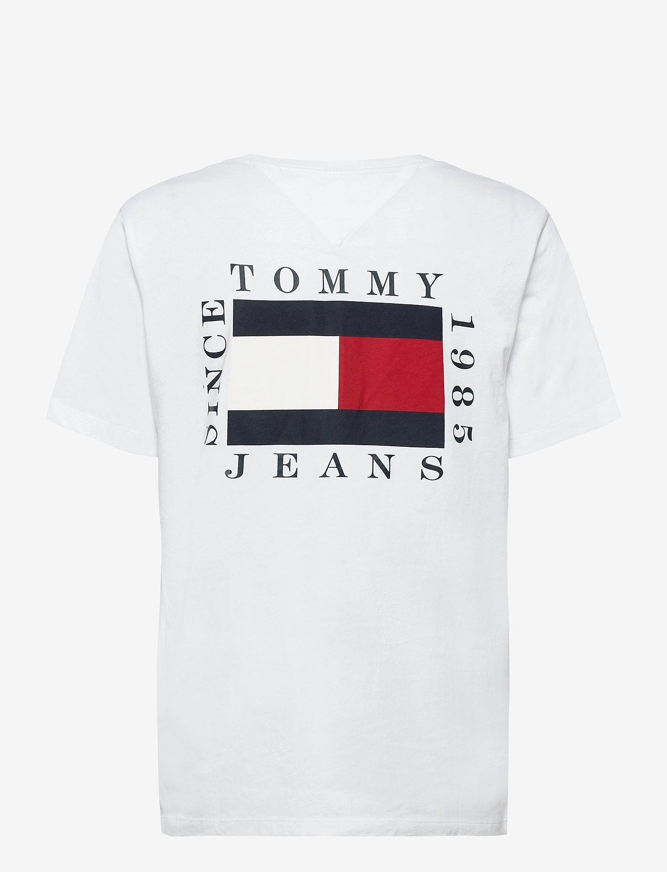 Tommy Jeans - TJW BOX FLAG TEE - t-shirts - white - 1