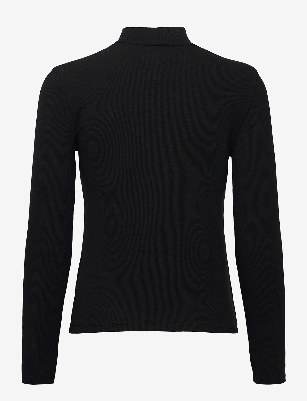 Tommy Jeans - TJW RIB MOCK NECK LONGSLEEVE - long-sleeved tops - black - 1