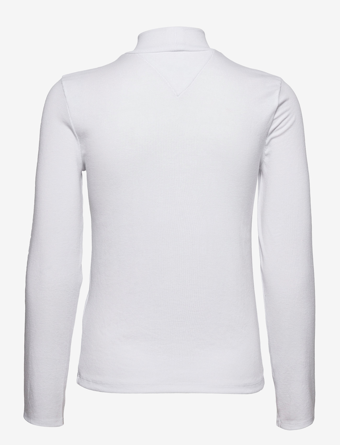 Tommy Jeans - TJW RIB MOCK NECK LONGSLEEVE - long-sleeved tops - white - 1