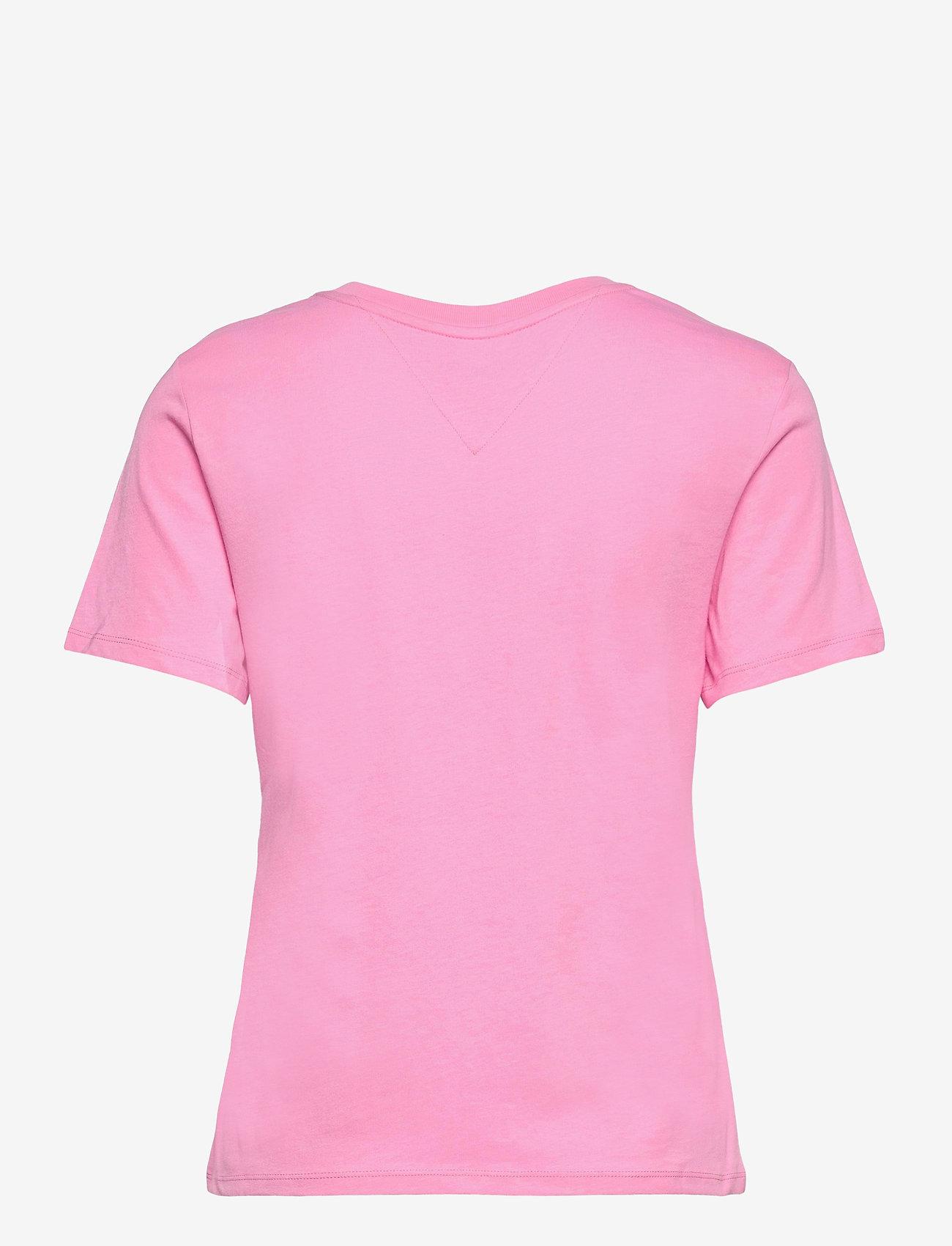 Tommy Jeans - TJW REGULAR JERSEY C NECK - t-shirts - pink daisy - 1