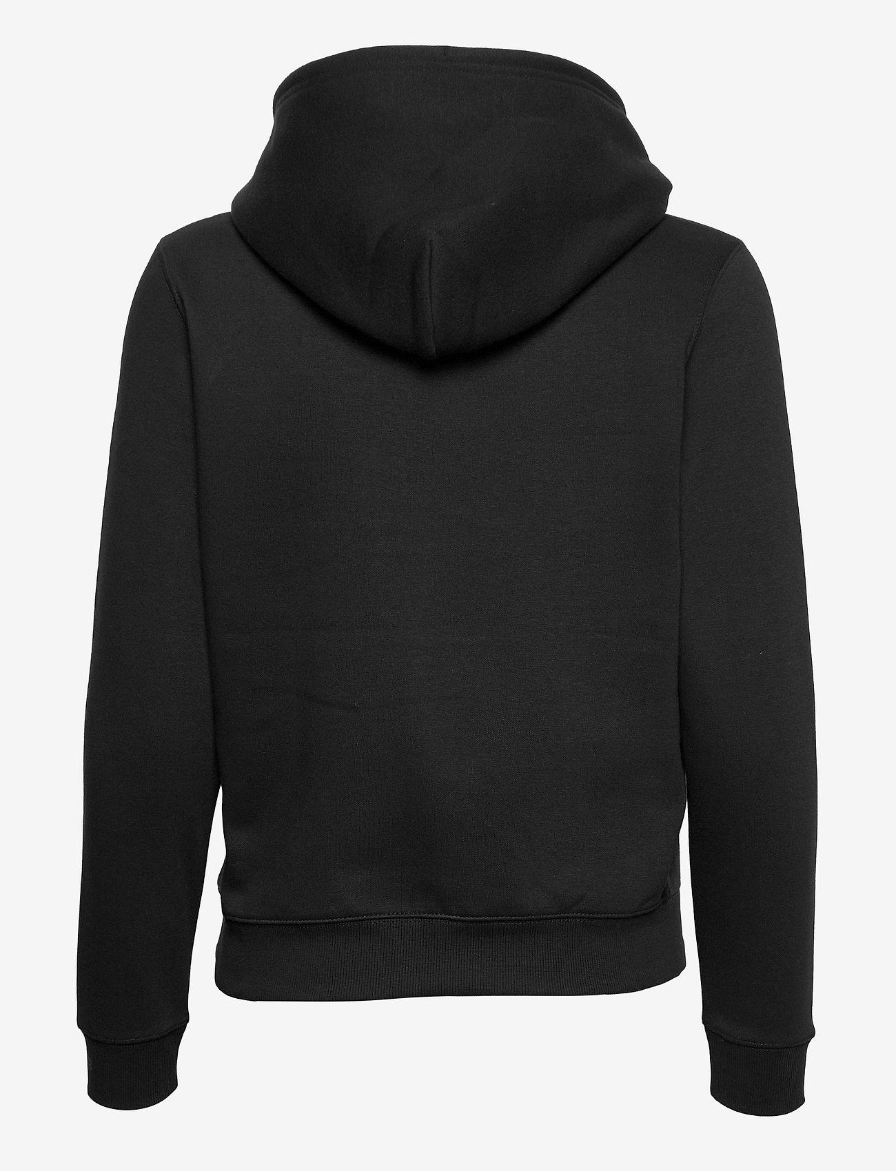 Tommy Jeans - TJW REGULAR FLEECE HOODIE - sweatshirts & hoodies - black - 1