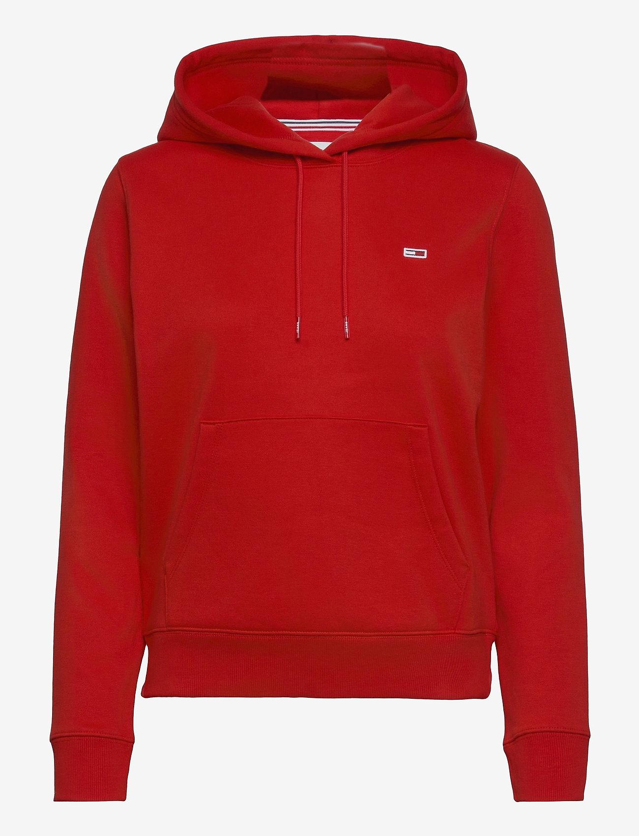 Tommy Jeans - TJW REGULAR FLEECE HOODIE - sweatshirts & hoodies - deep crimson - 0