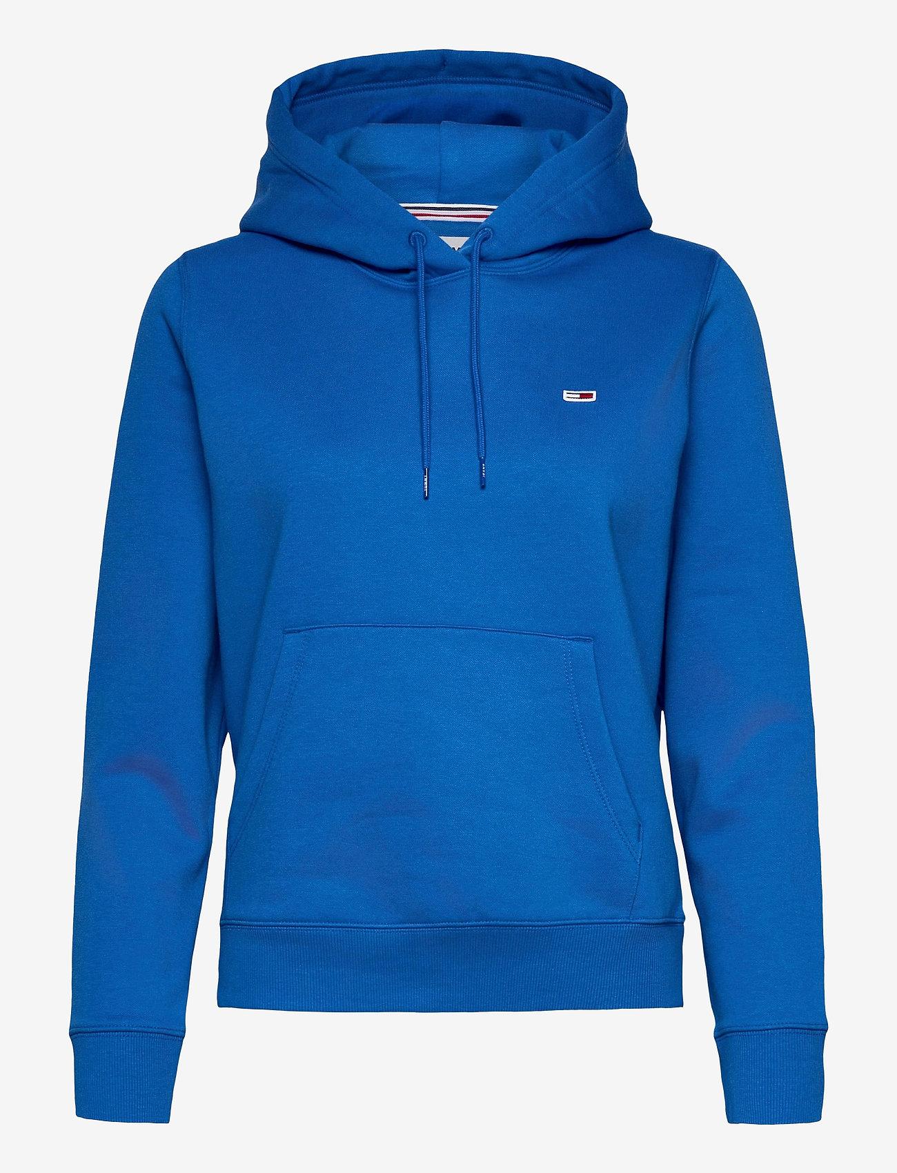 Tommy Jeans - TJW REGULAR FLEECE HOODIE - sweatshirts & hoodies - gulf coast blue - 0